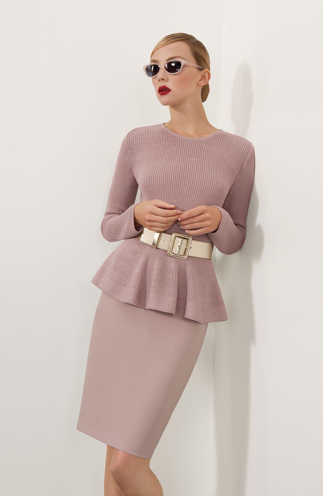 Alternate Image 1 Selected - St. John Collection Sweater, Skirt & Belt