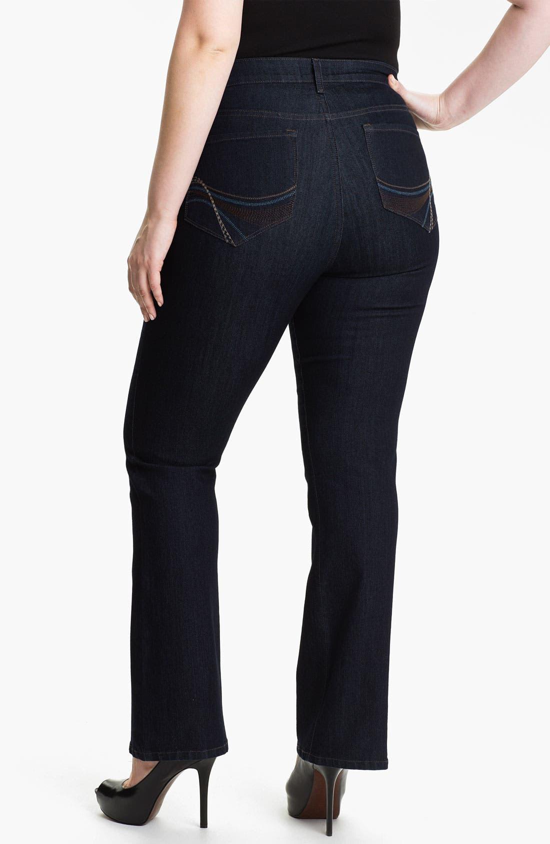 Alternate Image 2  - NYDJ 'Barbara' Embroidered Bootcut Jeans (Plus)