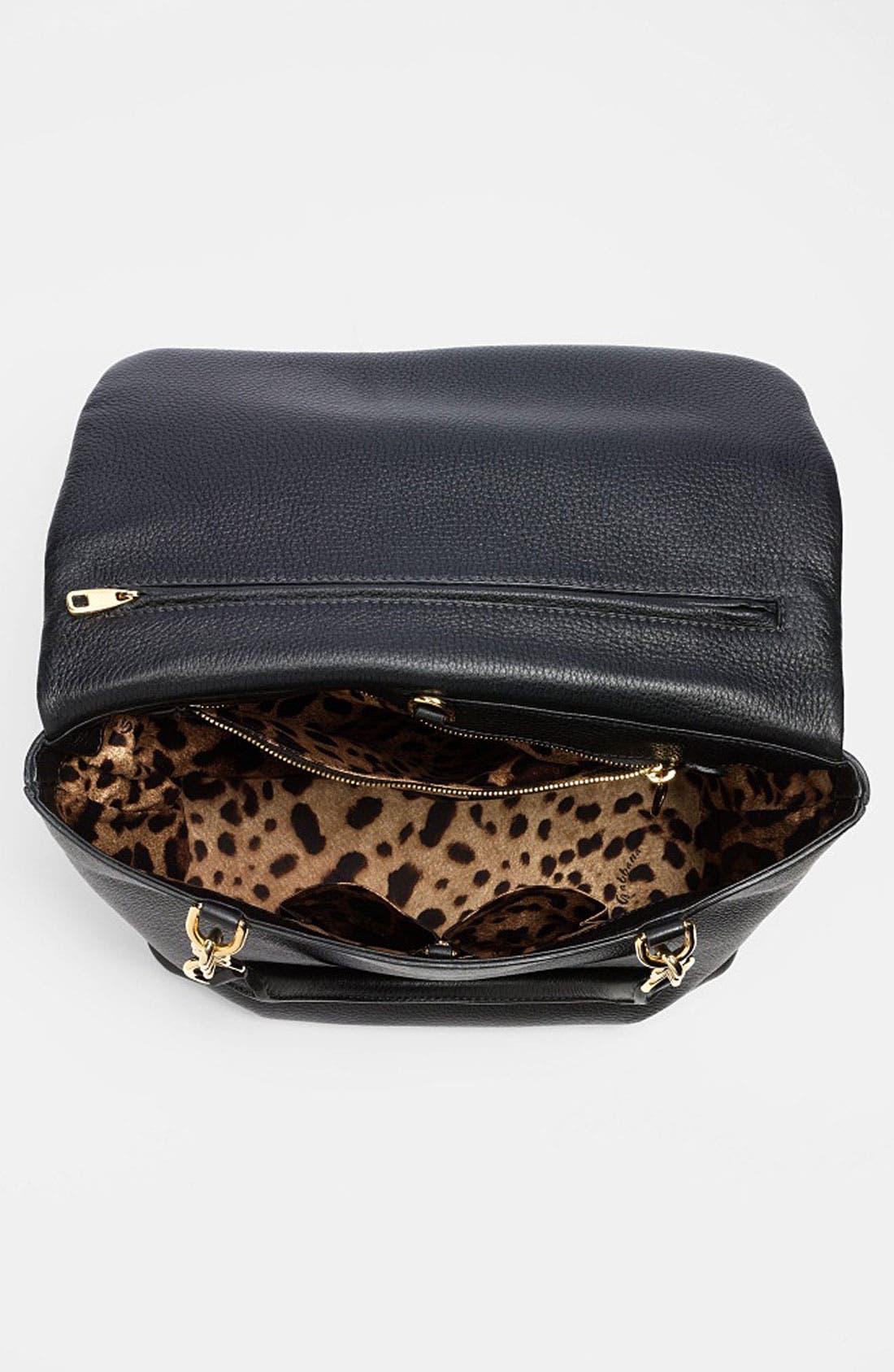 Alternate Image 3  - Dolce&Gabbana 'Miss Emma' Leather Shoulder Bag