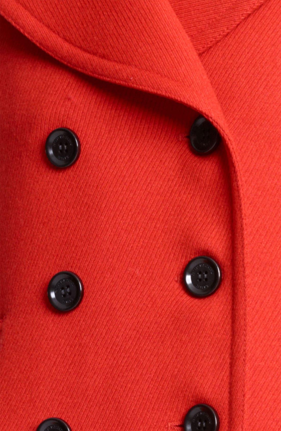 Alternate Image 3  - Burberry Brit 'Fenstead' Double Breasted Wool Peacoat