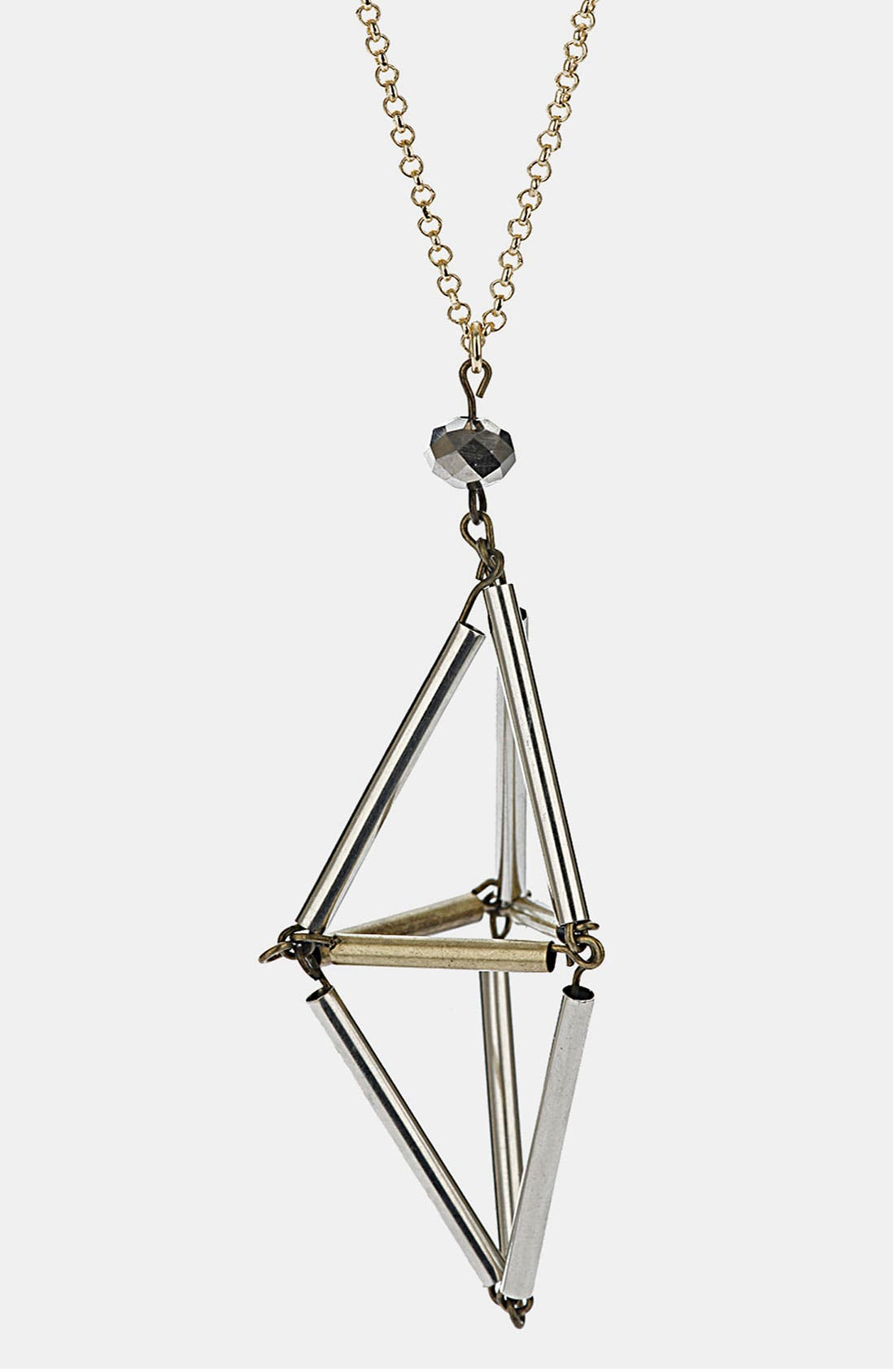 Alternate Image 1 Selected - Topshop Geo Triangle Pendant Necklace