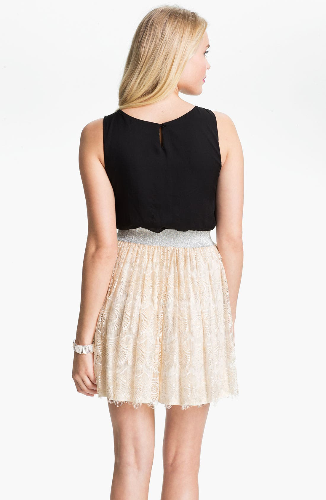 Alternate Image 2  - As U Wish Lace Skirt Tank Dress (Juniors)