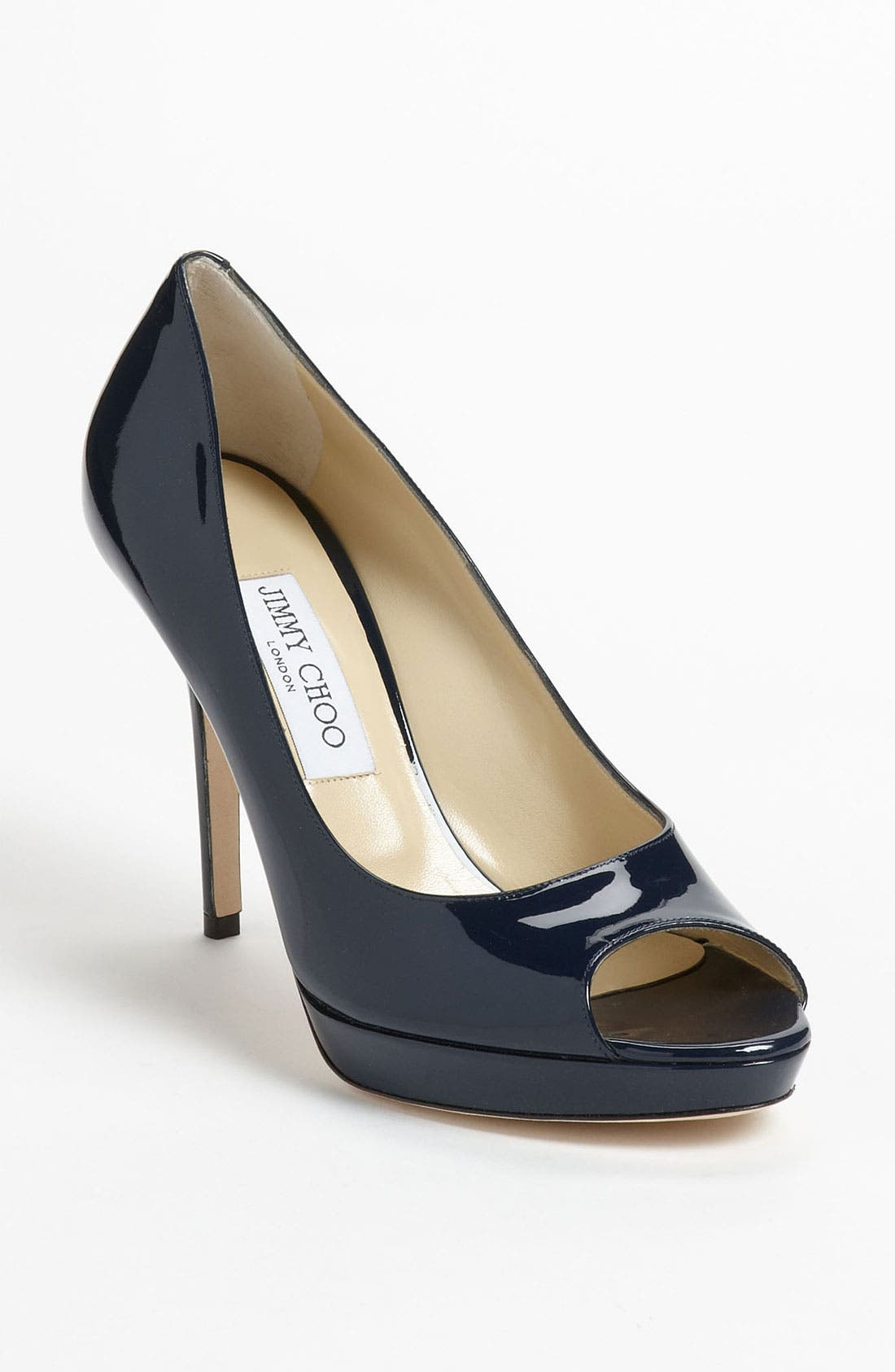 Alternate Image 1 Selected - Jimmy Choo 'Luna' Peep Toe Platform Pump (Women)