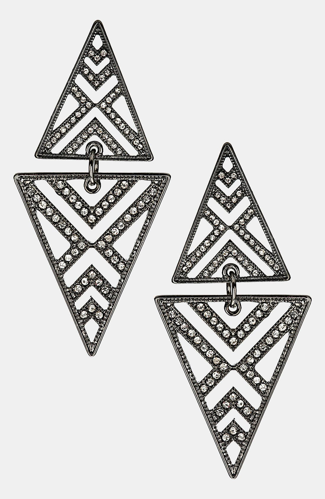 Alternate Image 1 Selected - Topshop Cutout Diamond Shaped Earrings