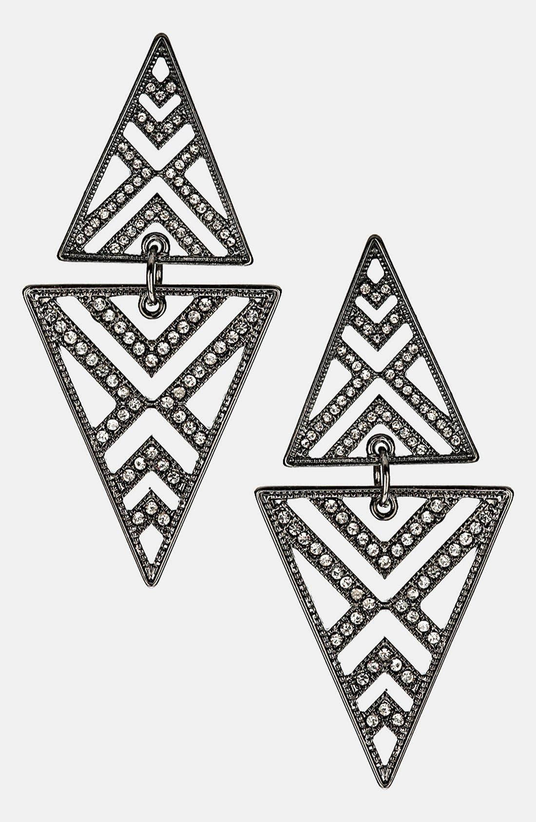 Main Image - Topshop Cutout Diamond Shaped Earrings