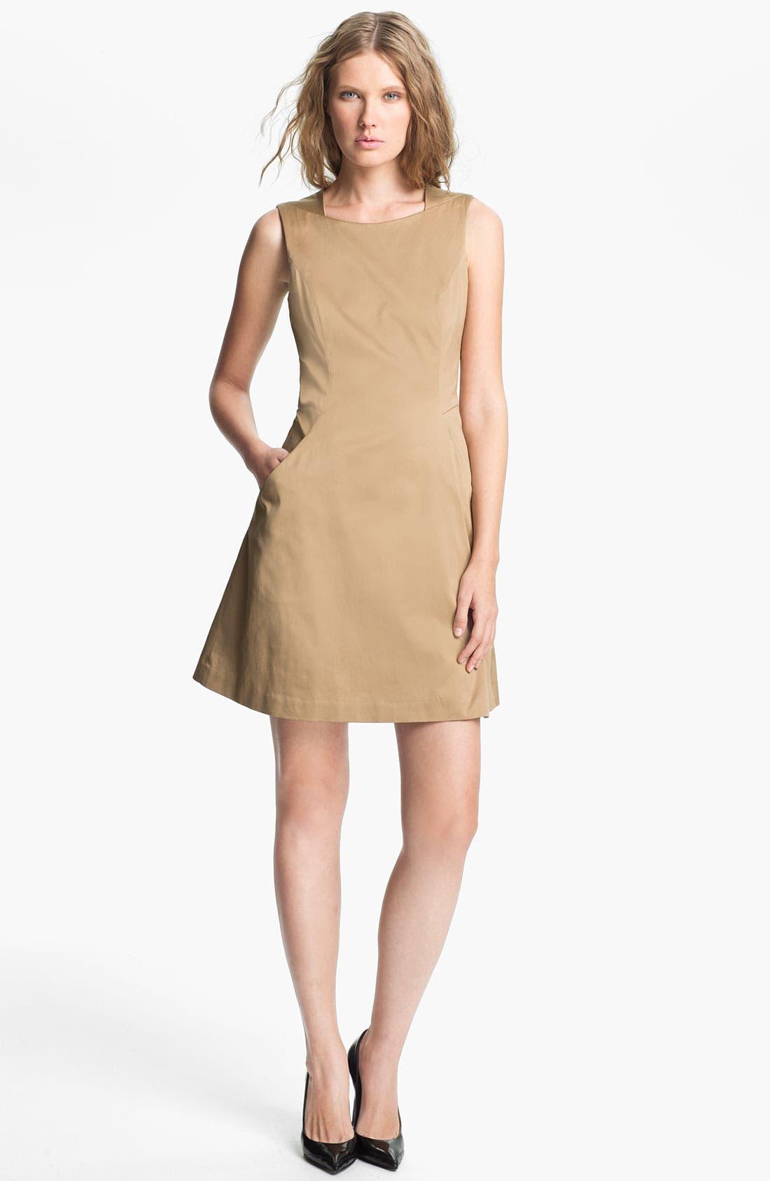 Main Image - Theyskens' Theory 'Fuku Durran' Pintuck Dress