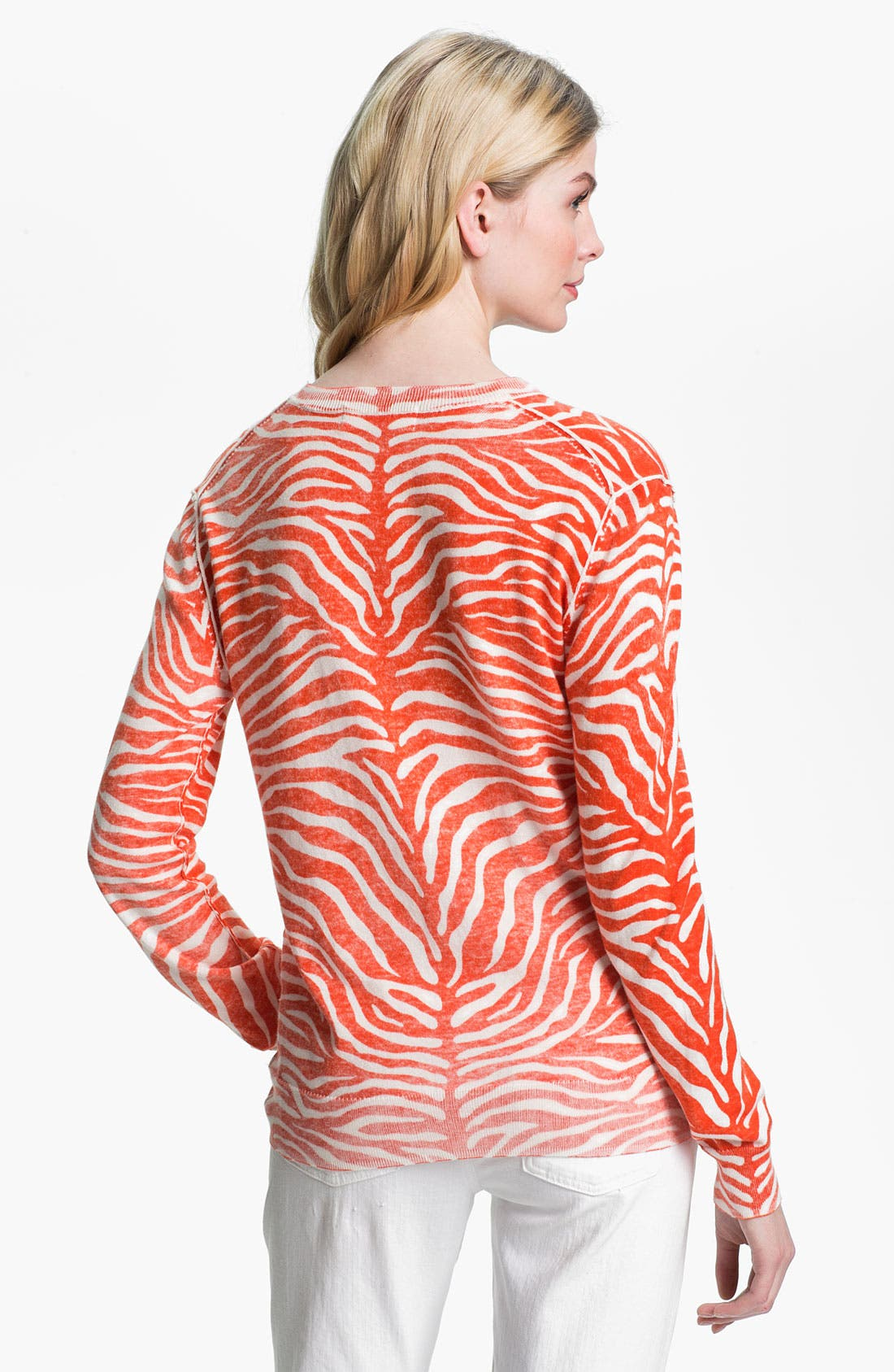 Alternate Image 2  - MICHAEL Michael Kors Zebra Print Sweater