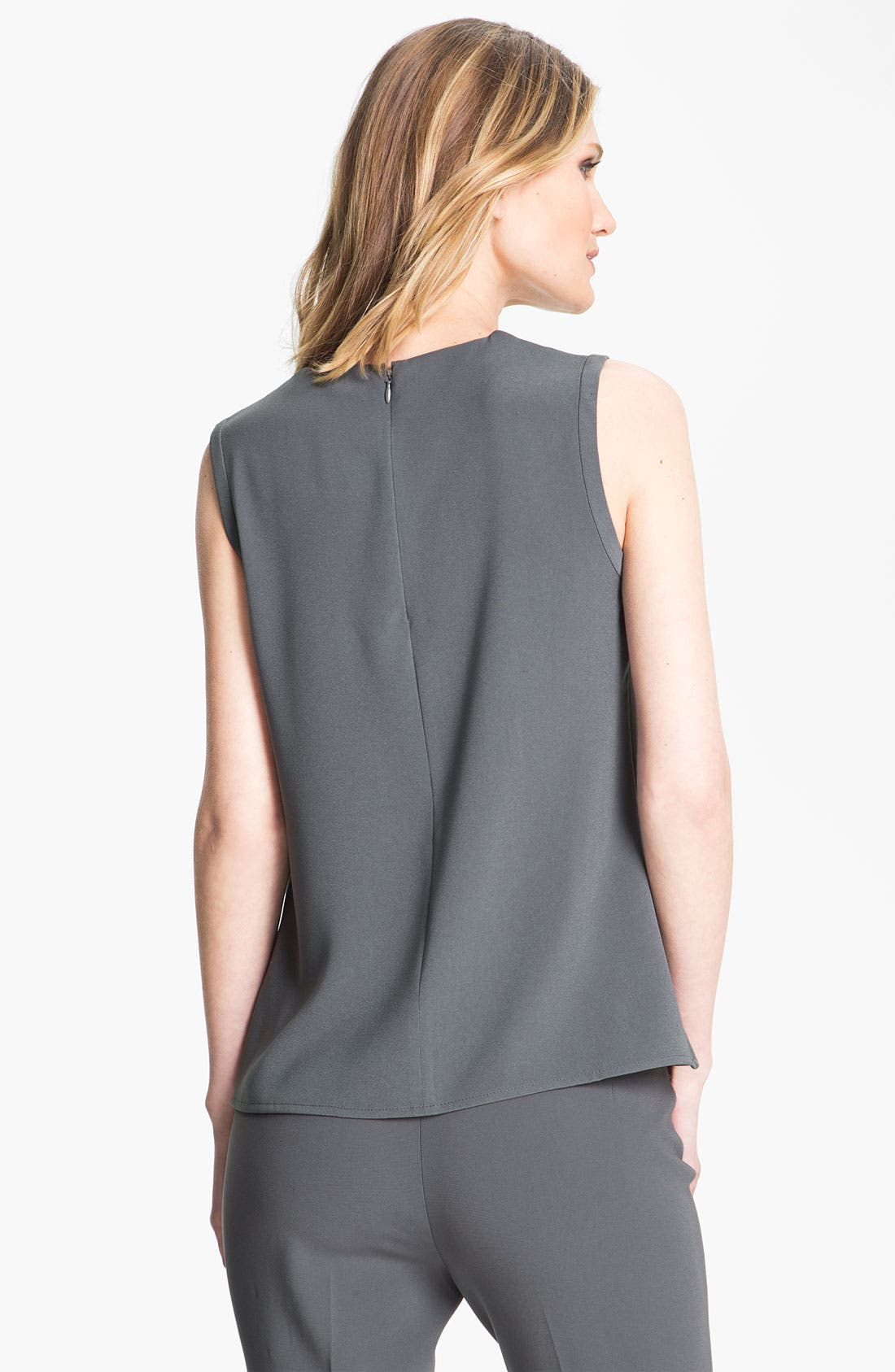 Alternate Image 4  - St. John Collection Shoulder Tuck Crepe Shell