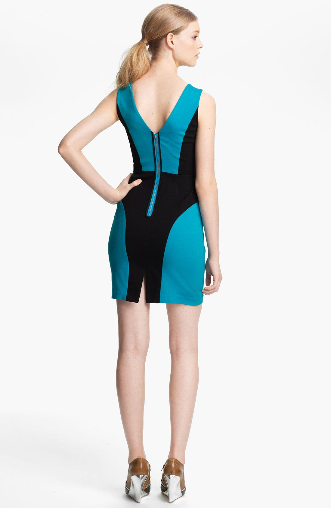 Alternate Image 2  - Tracy Reese Colorblock Ponte Knit Shift Dress