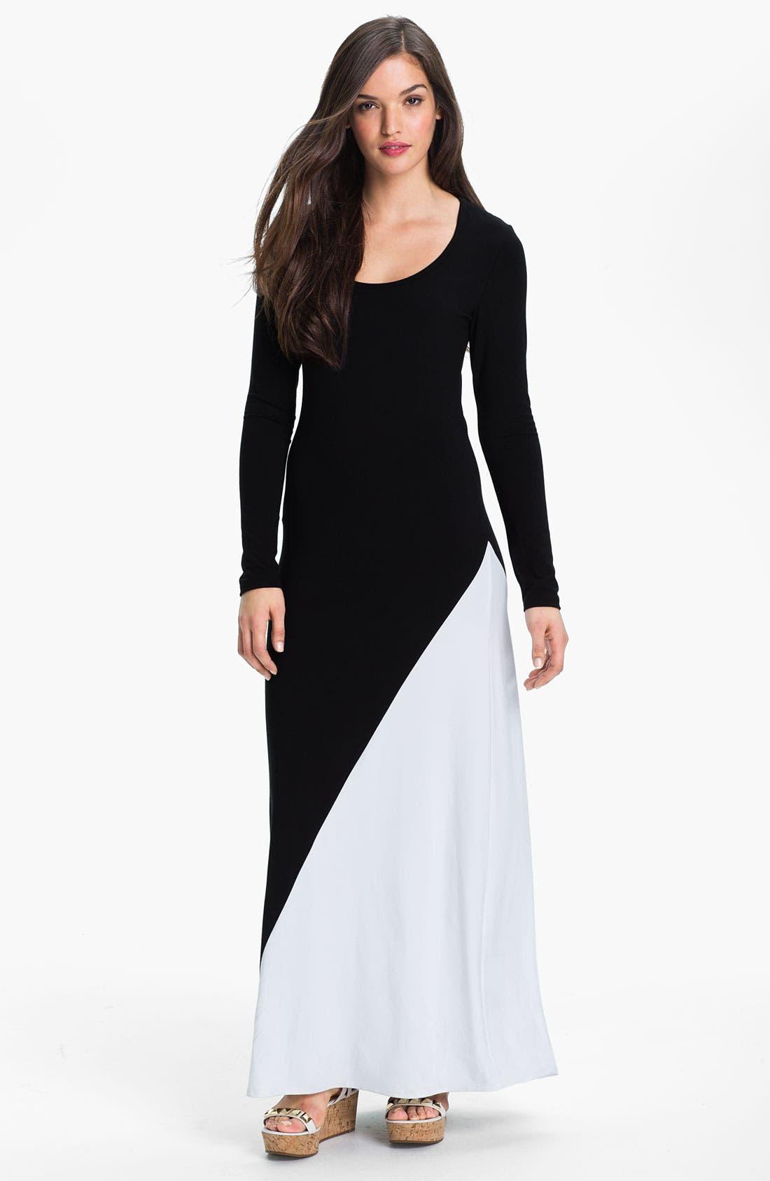 Alternate Image 1 Selected - Karen Kane Colorblock Maxi Dress