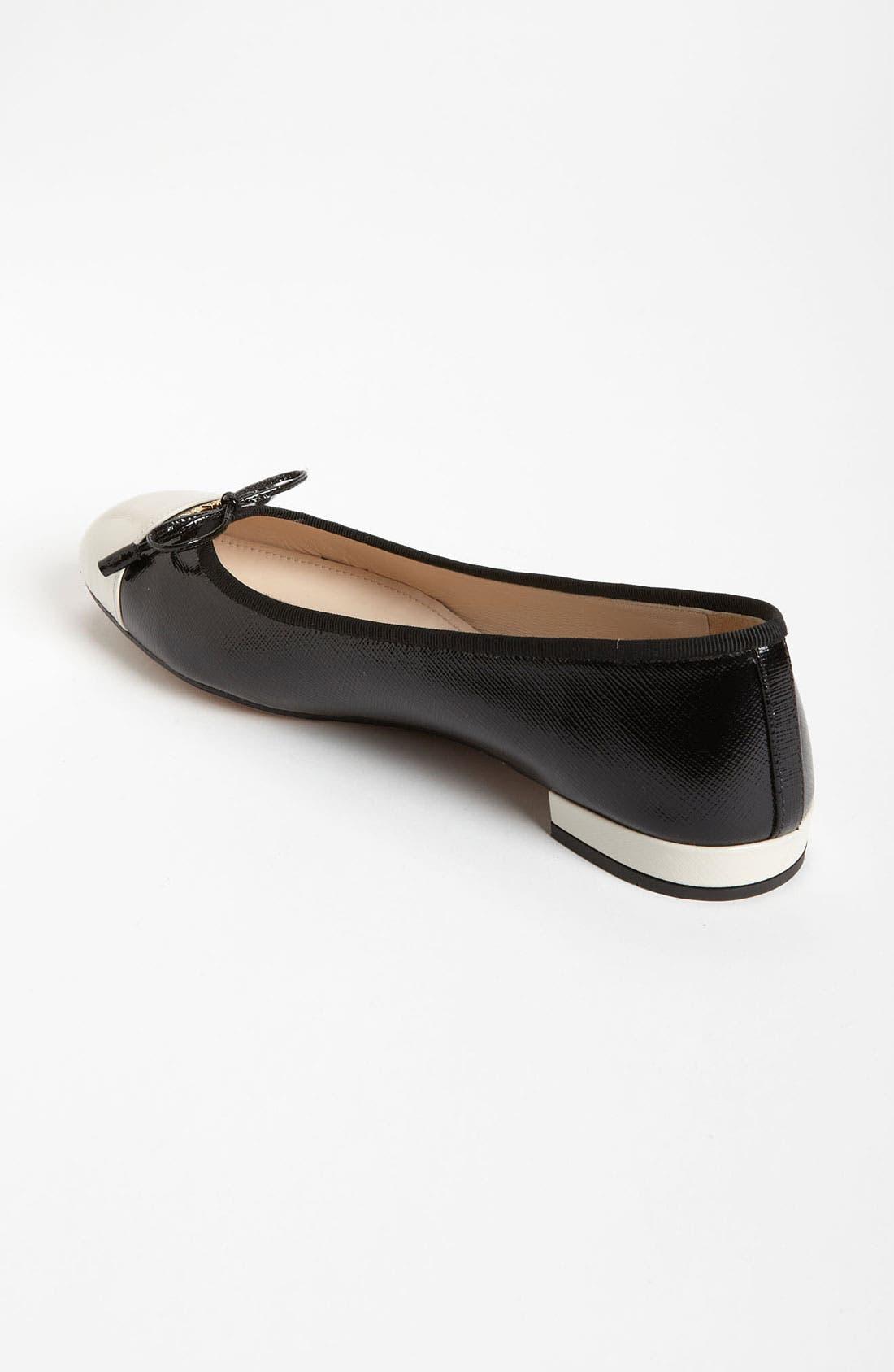 Alternate Image 2  - Prada Cap Toe Ballet Flat