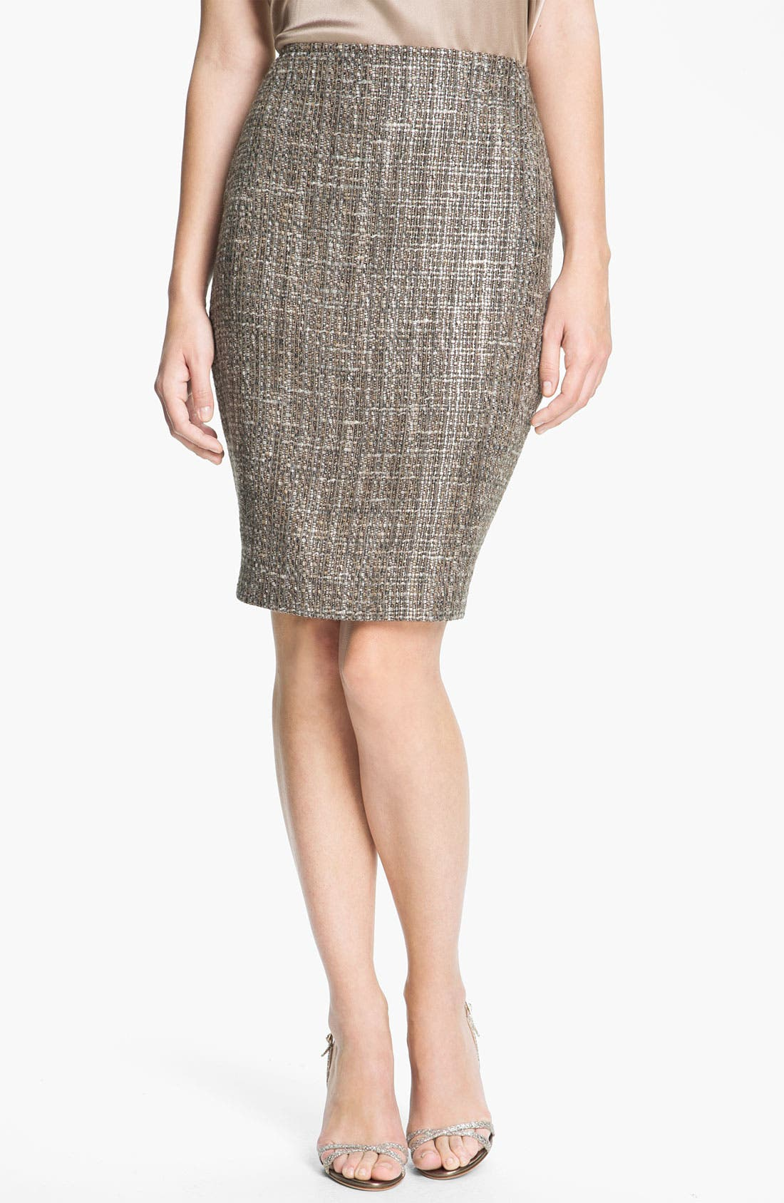 Alternate Image 2  - St. John Collection Metallic Space Dye Tweed Pencil Skirt