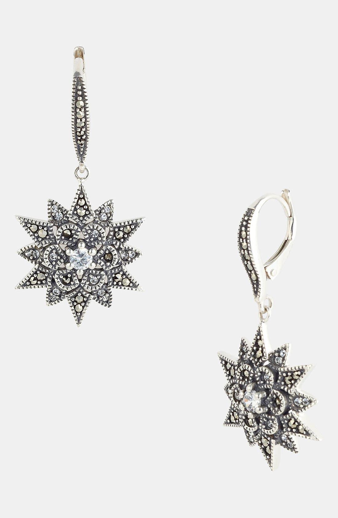 Main Image - Judith Jack Snowflake Drop Earrings