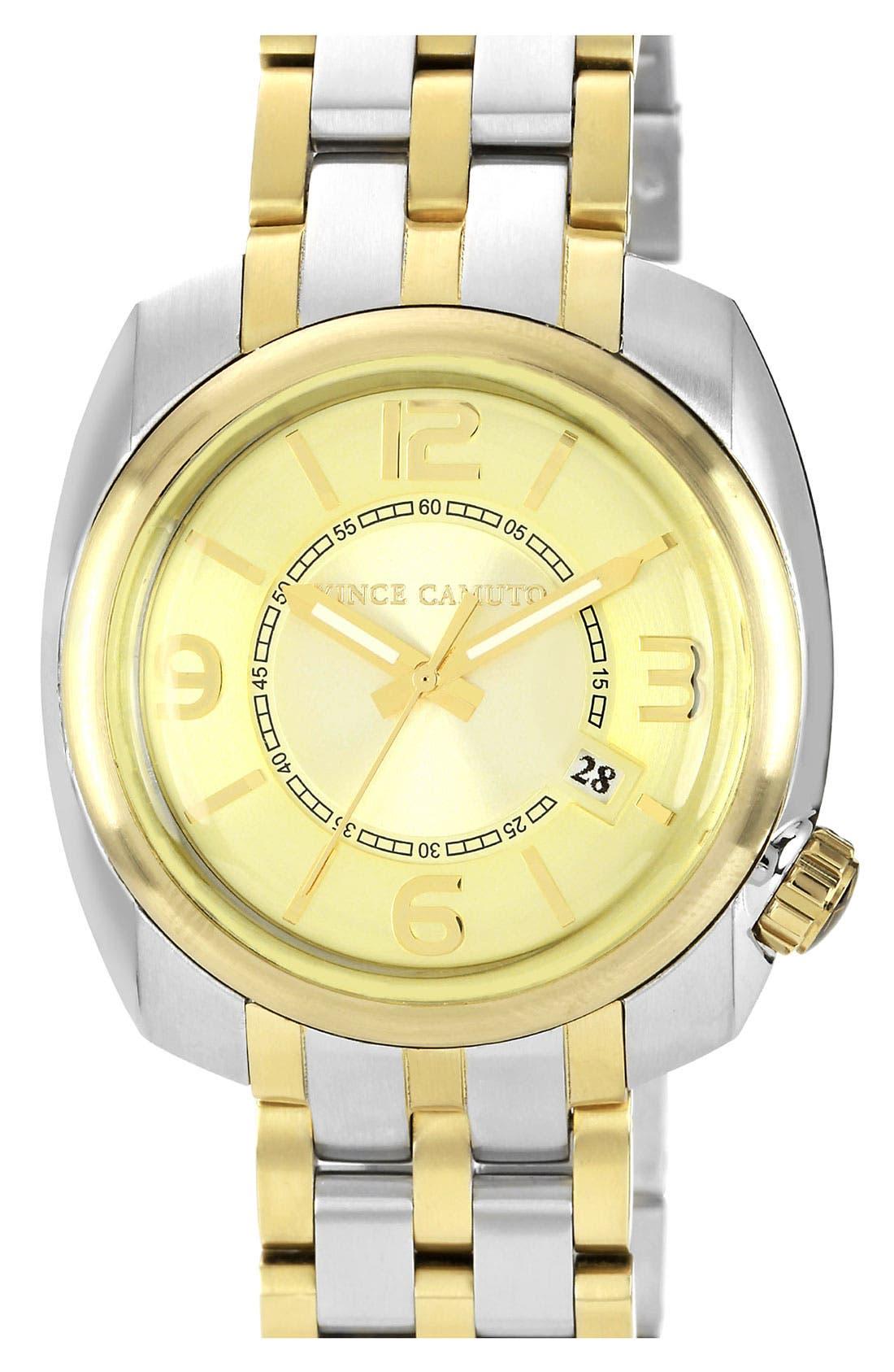 Main Image - Vince Camuto Square Case Bracelet Watch, 42mm