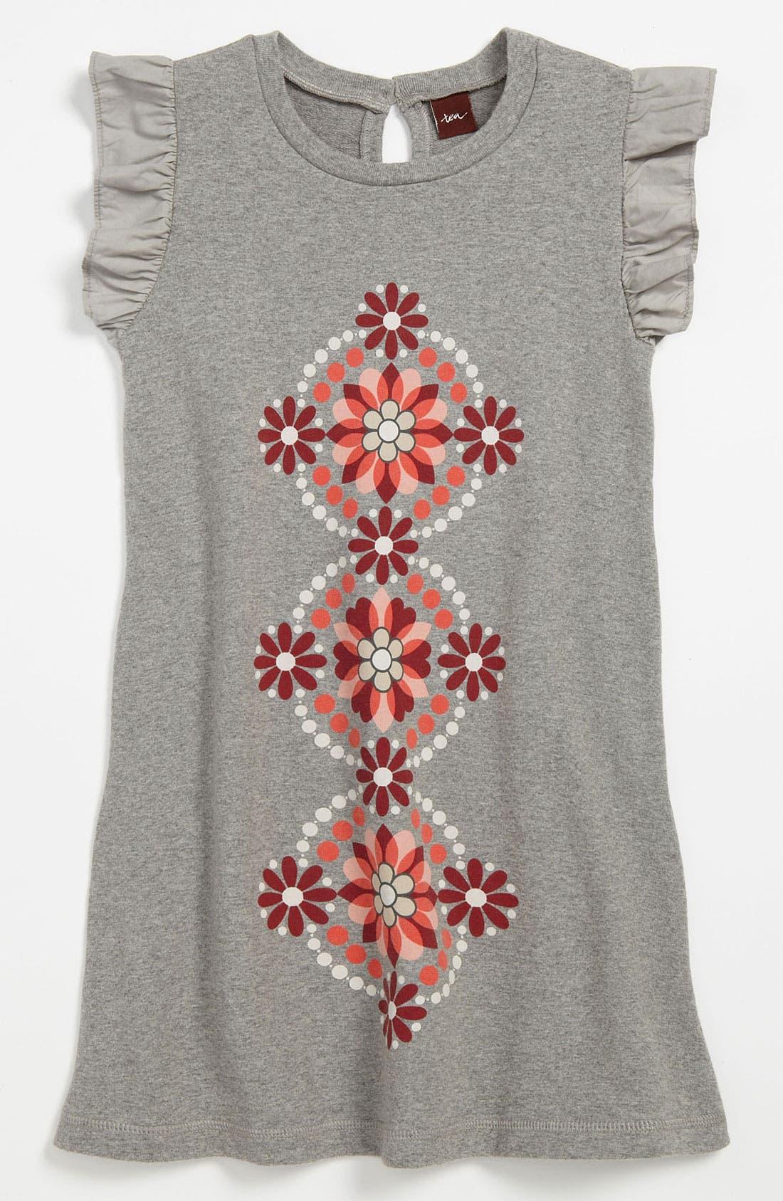 Main Image - Tea Collection Flutter Sleeve Dress (Little Girls & Big Girls)