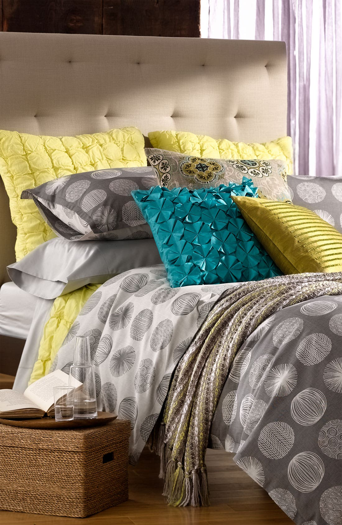 Alternate Image 2  - Nordstrom at Home 'Scribble Dots' 300 Thread Count Jacquard Duvet Cover