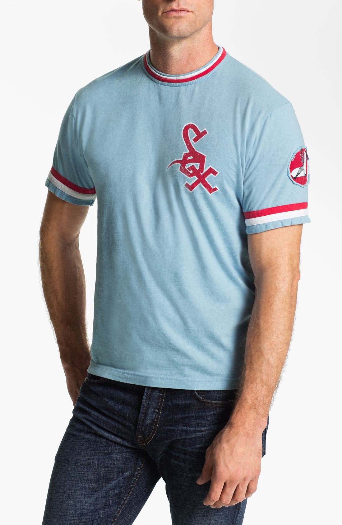 Alternate Image 1 Selected - Red Jacket 'Chicago White Sox' Ringer Trim Fit T-Shirt (Men)
