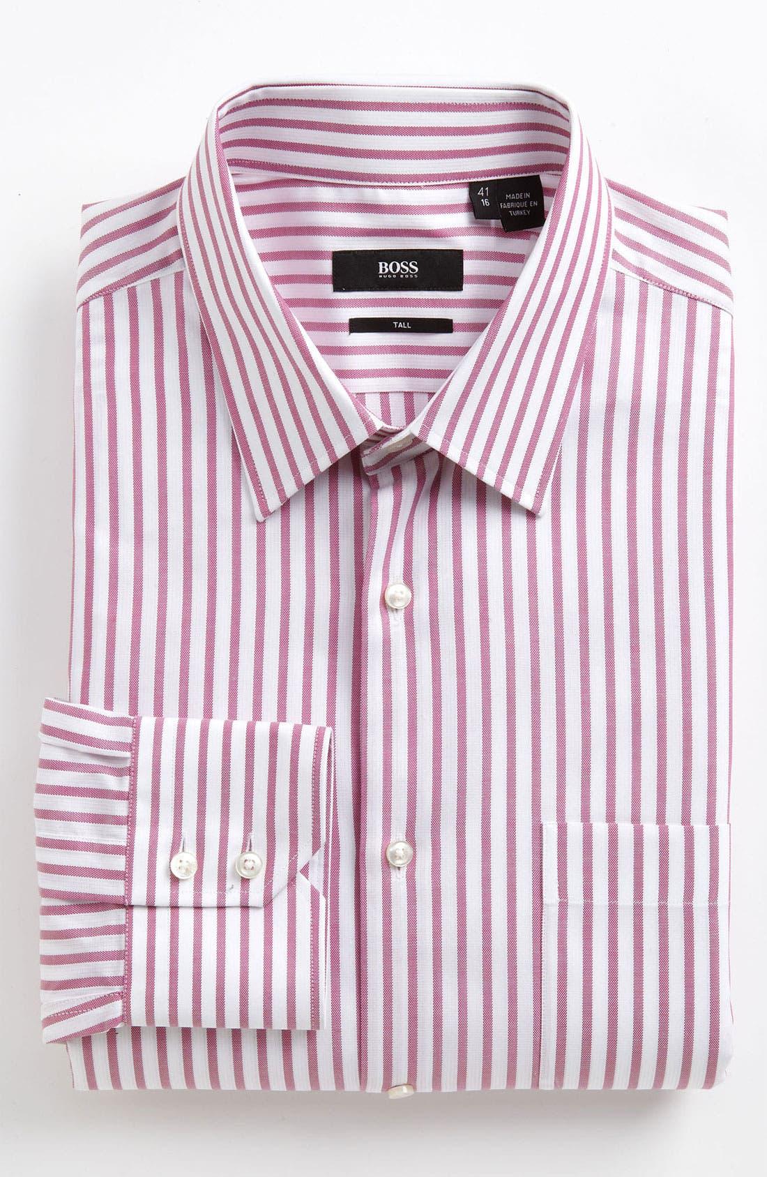 Main Image - BOSS Black Regular Fit Non-Iron Dress Shirt (Tall) (Online Exclusive)