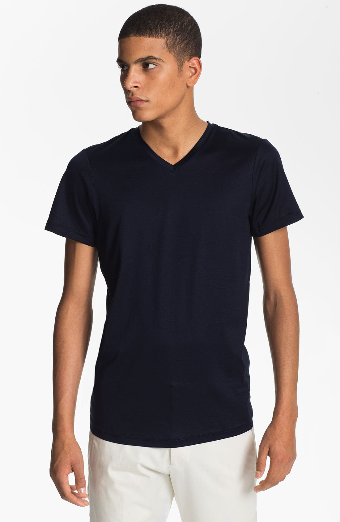 Alternate Image 1 Selected - Jil Sander V-Neck T-Shirt