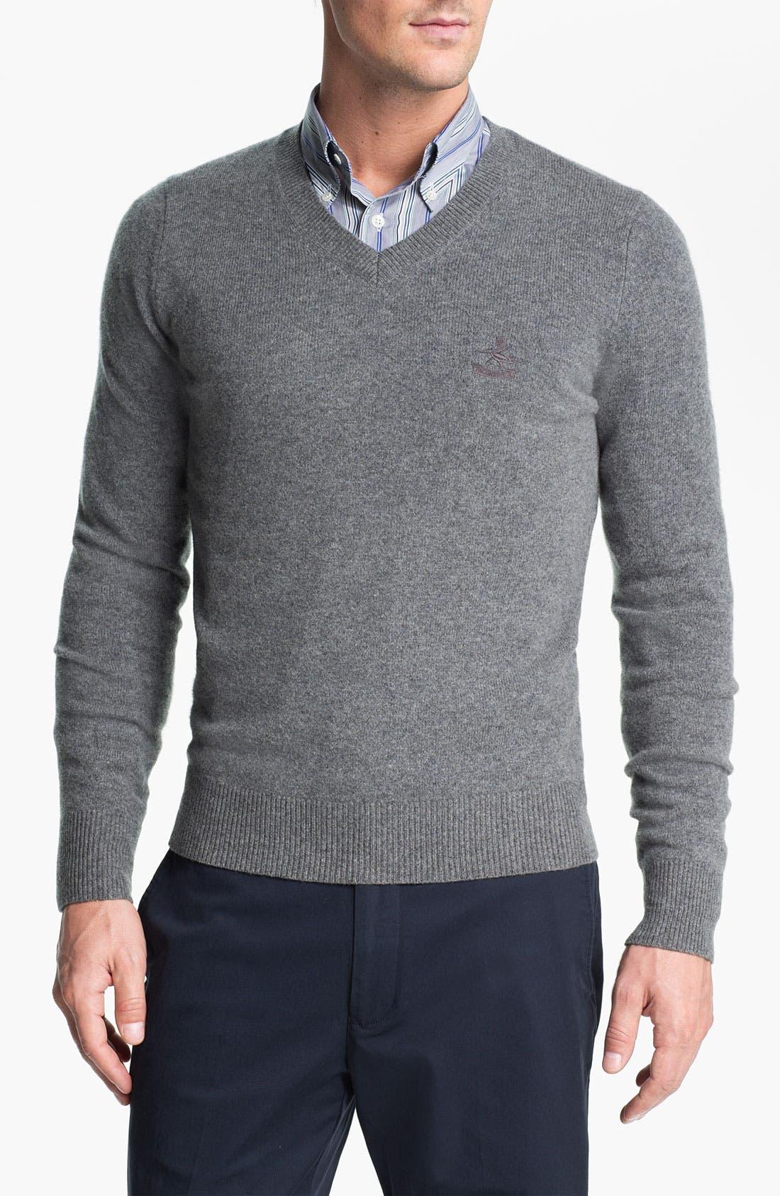 Alternate Image 1 Selected - Façonnable V-Neck Wool Sweater