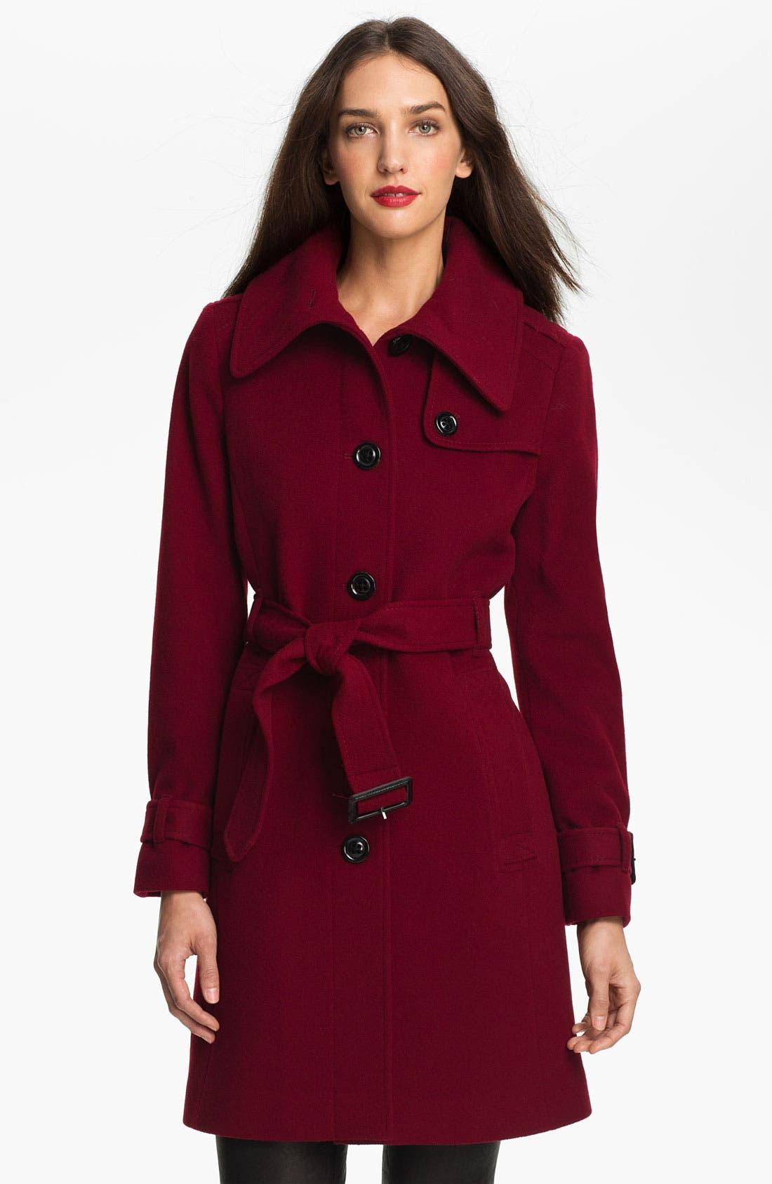 Main Image - London Fog Envelope Collar Wool Blend Coat (Online Exclusive)