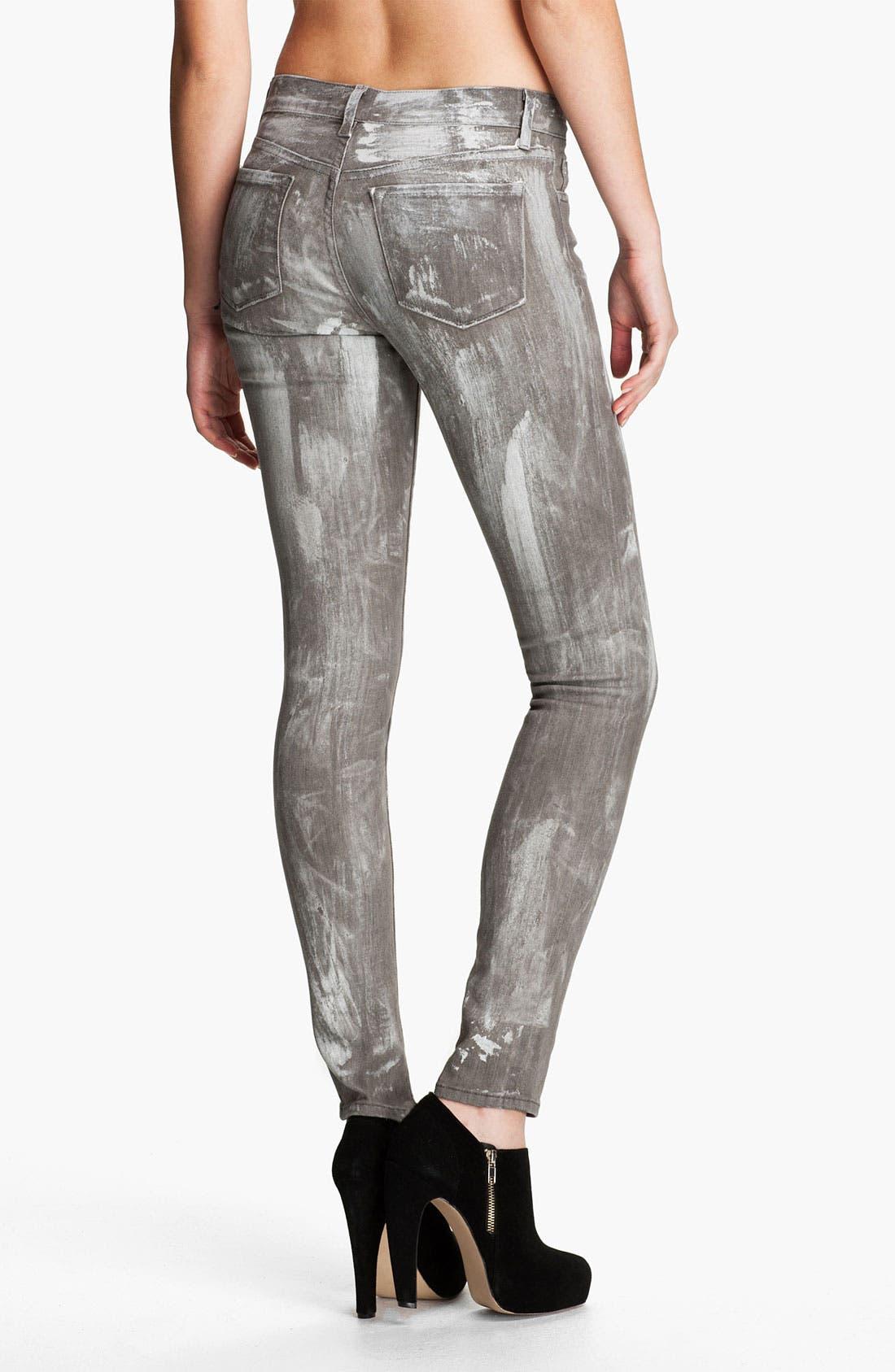 Alternate Image 2  - J Brand Skinny Denim Leggings (Coated Sutra)