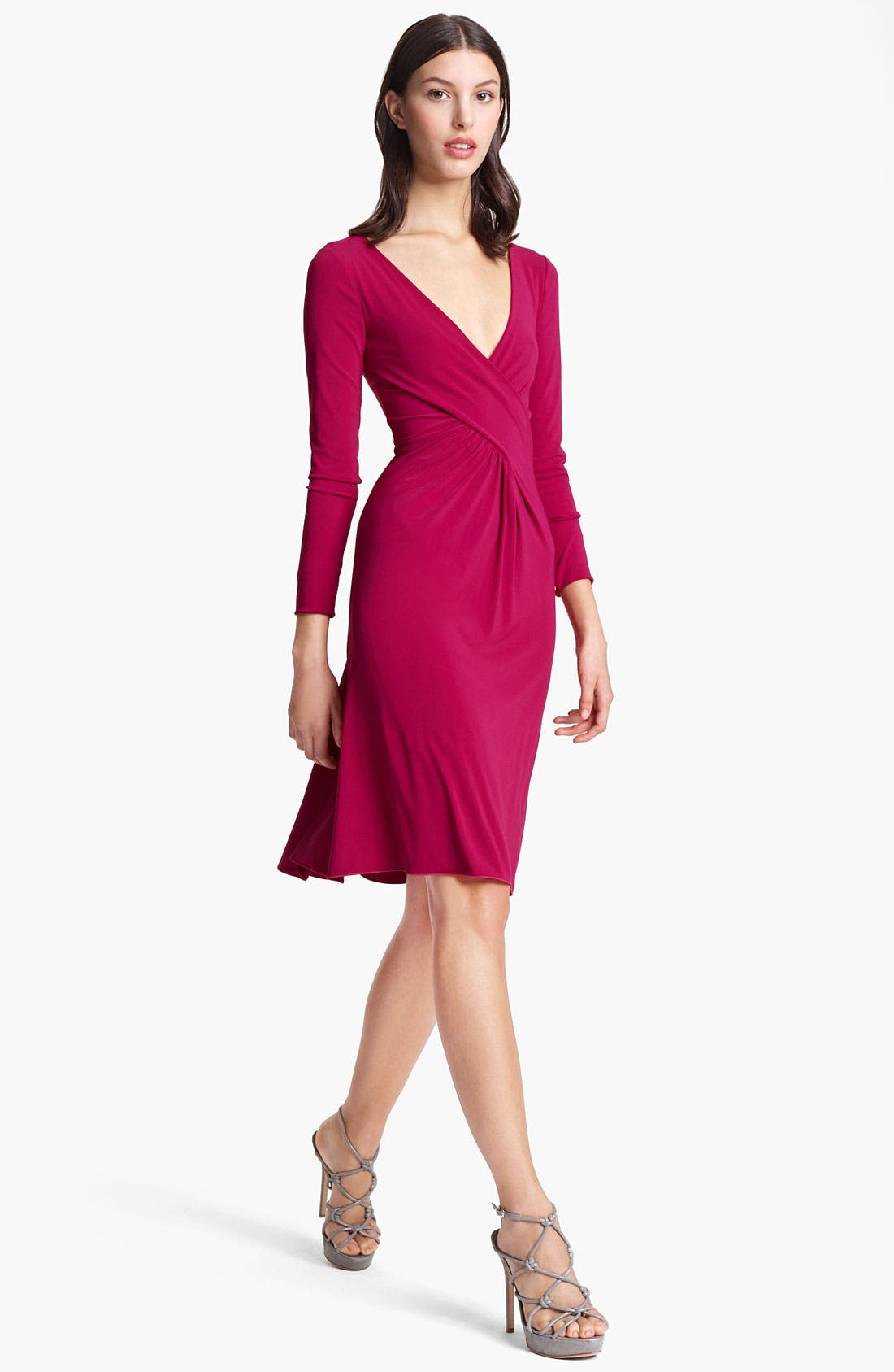 Alternate Image 1 Selected - Armani Collezioni Cross Front Matte Jersey Dress