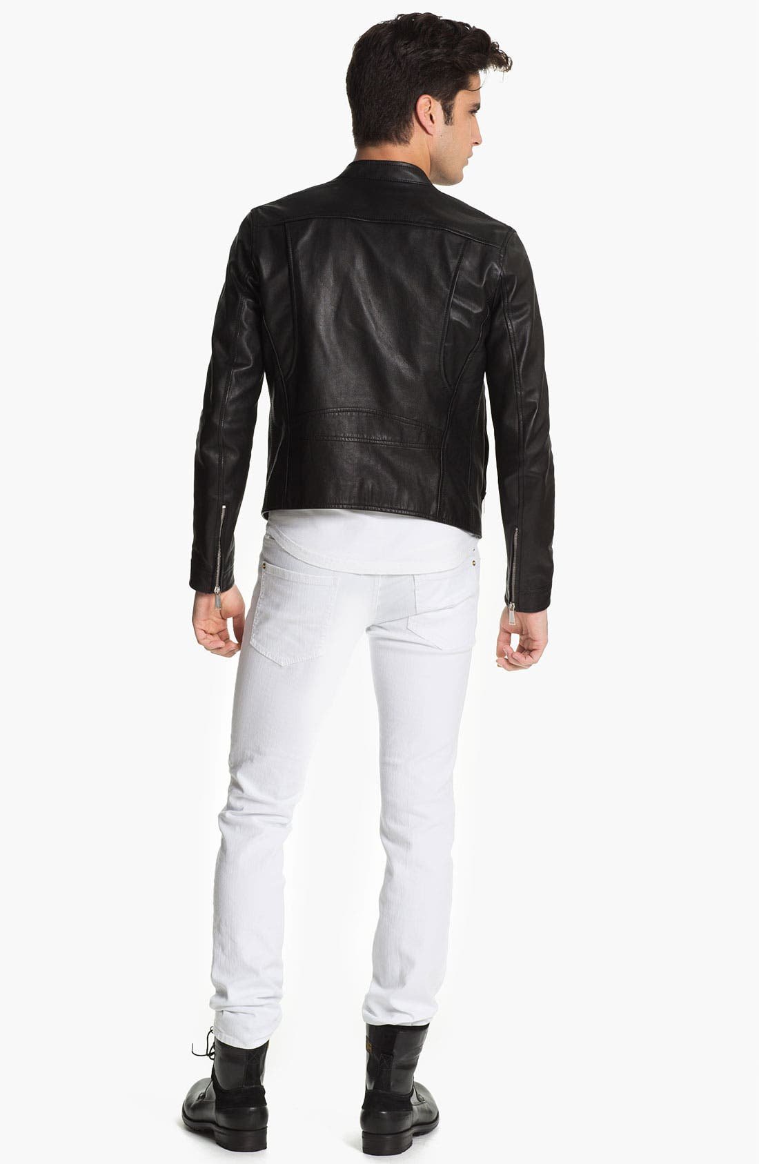 Alternate Image 5  - Dsquared2 Leather Moto Jacket