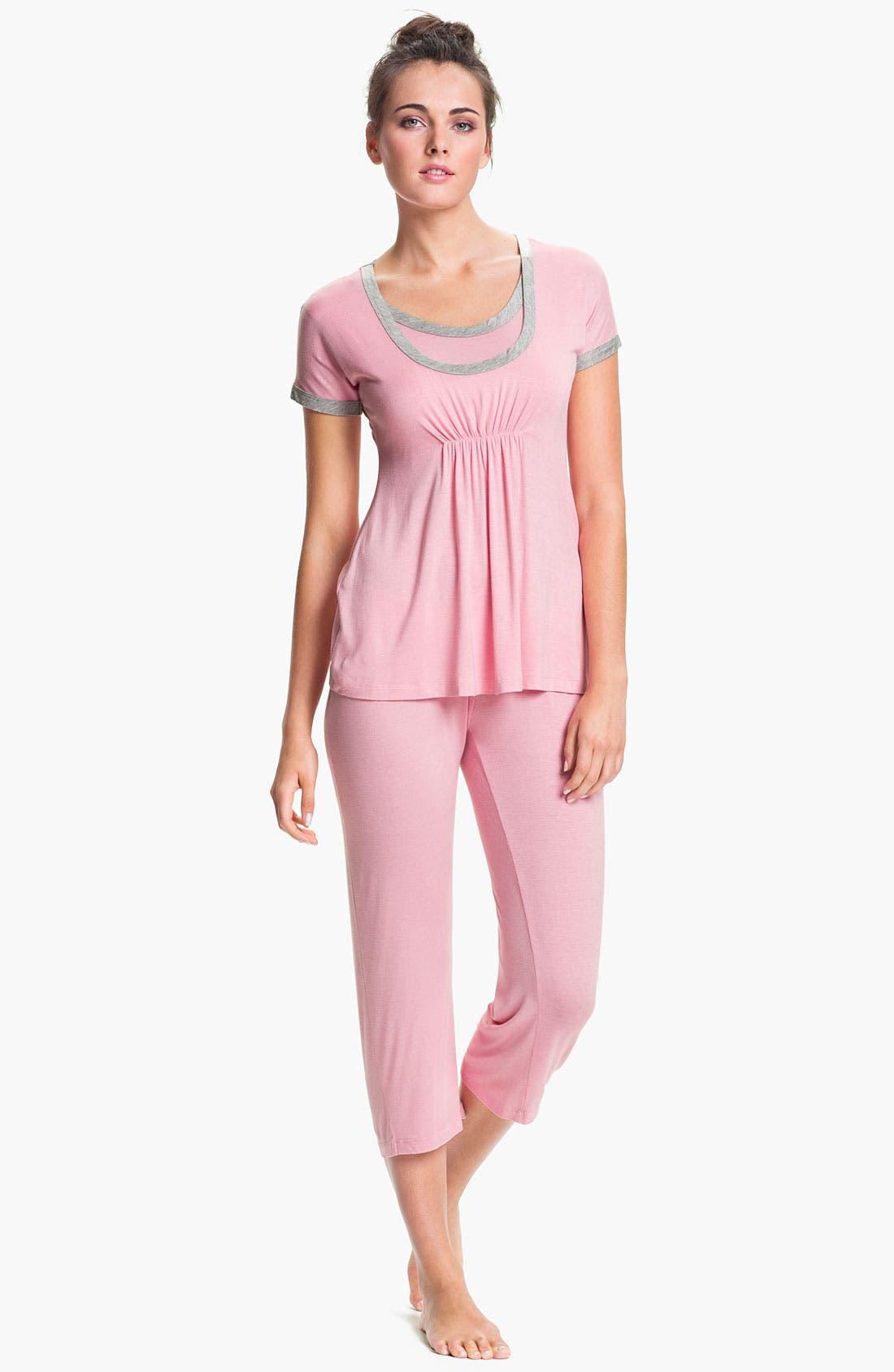 Main Image - Japanese Weekend Maternity Pajama Gift Set with Infant Blanket