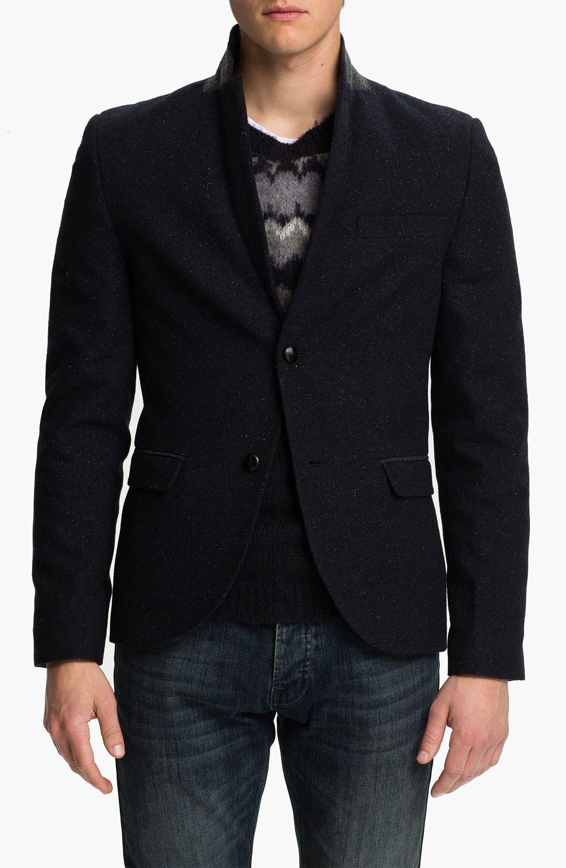 Main Image - Topman Fleck Skinny Fit Blazer