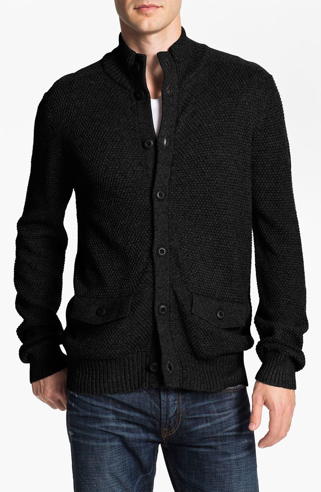 Alternate Image 1 Selected - Ben Sherman Cotton & Wool Button Cardigan