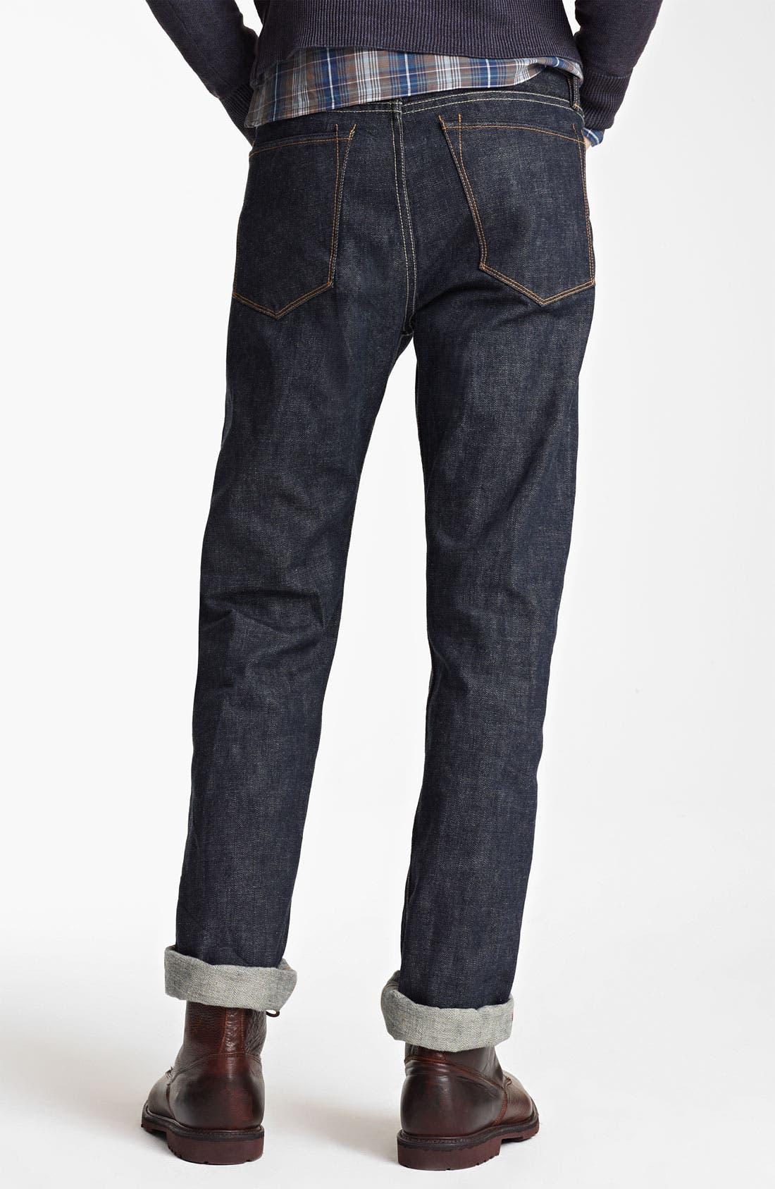 Alternate Image 2  - Todd Snyder Straight Leg Jeans (Indigo)