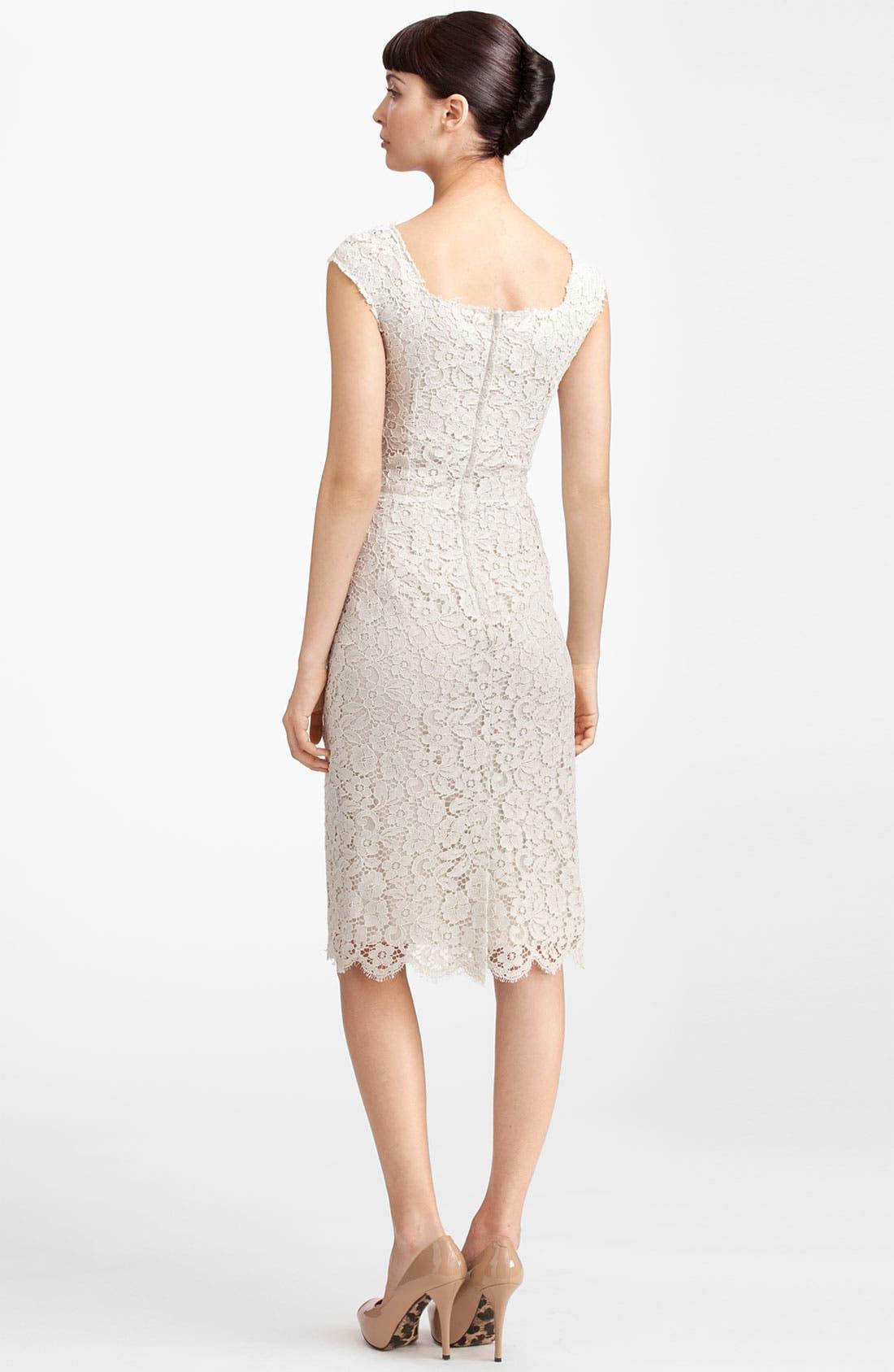 Alternate Image 2  - Dolce&Gabbana Floral Lace Sheath Dress