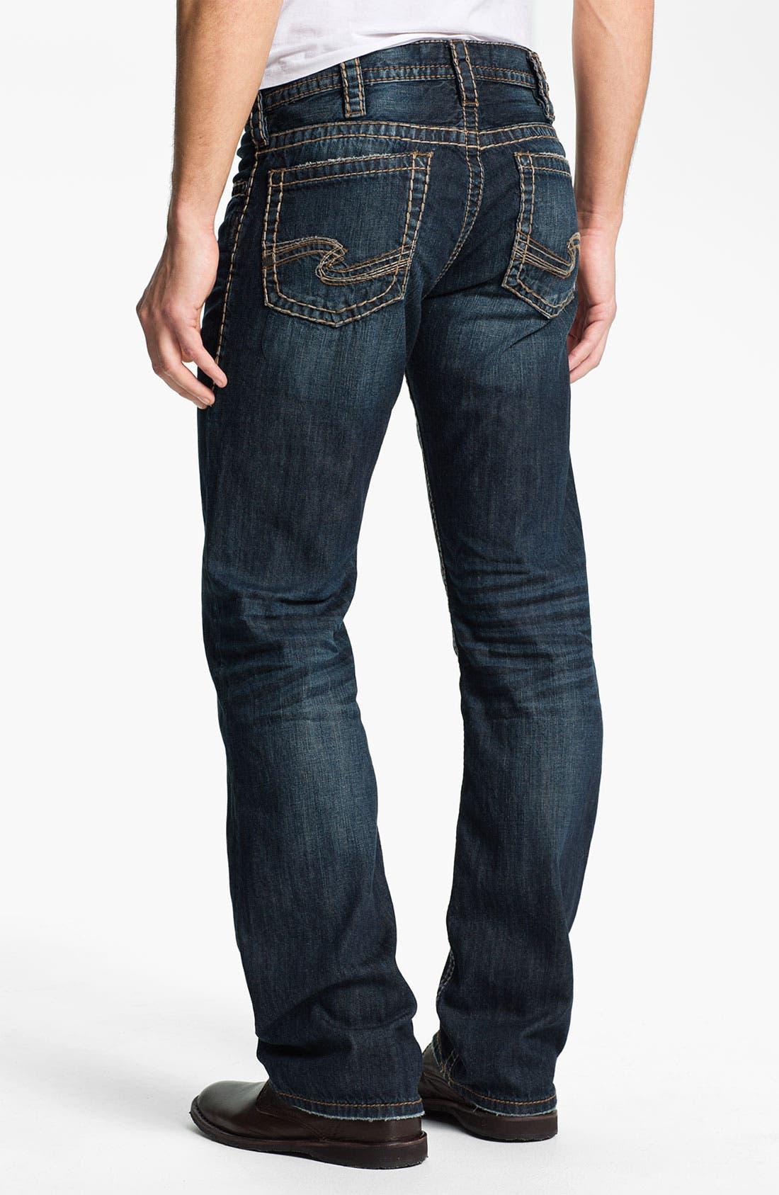 Alternate Image 1 Selected - Silver Jeans Co. 'Nash Heritage' Straight Leg Jeans (Indigo)