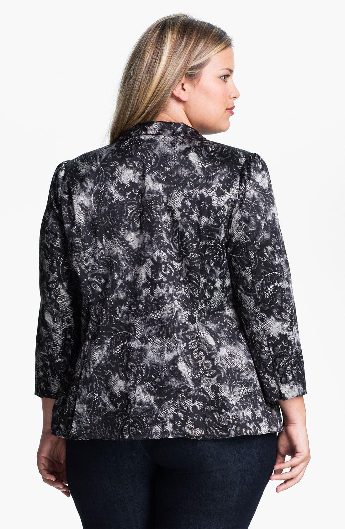 Alternate Image 2  - Bellatrix Lace Print Blazer (Plus)