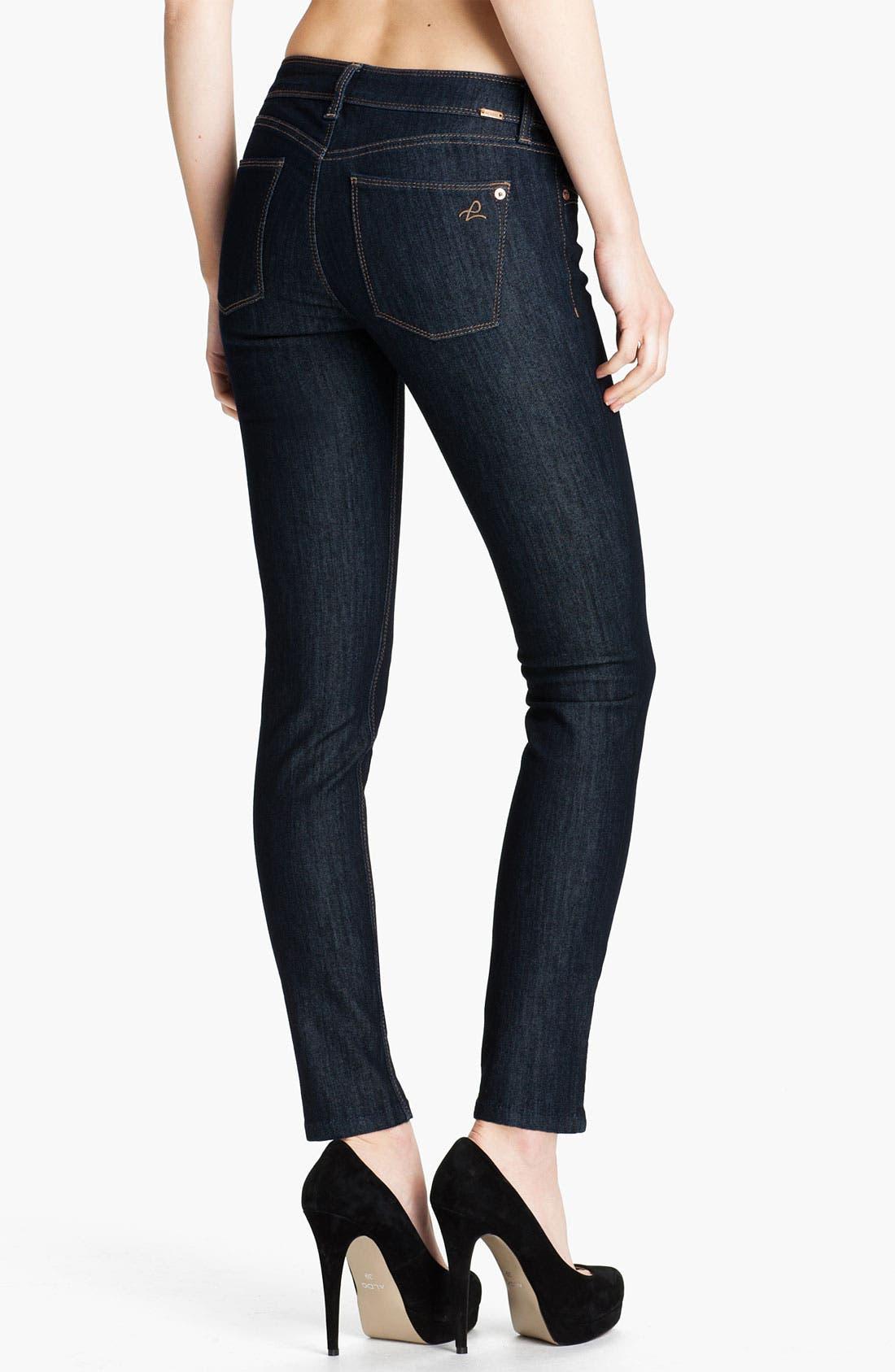 Alternate Image 2  - DL1961 'Angel' Skinny Ankle Jeans (Crush)