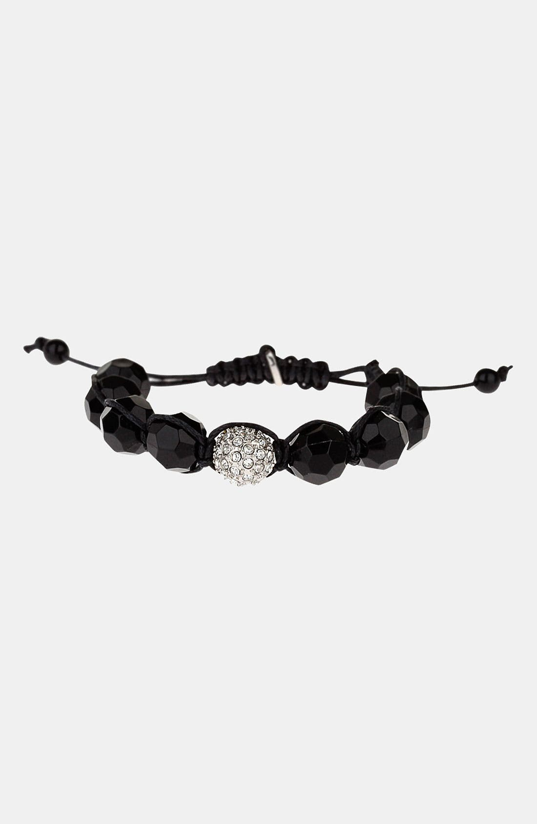 Alternate Image 1 Selected - Topman Beaded Adjustable Cord Bracelet