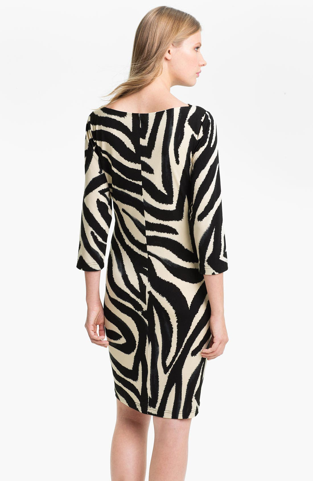 Alternate Image 2  - Eliza J Three Quarter Sleeve Side Drape Jersey Dress