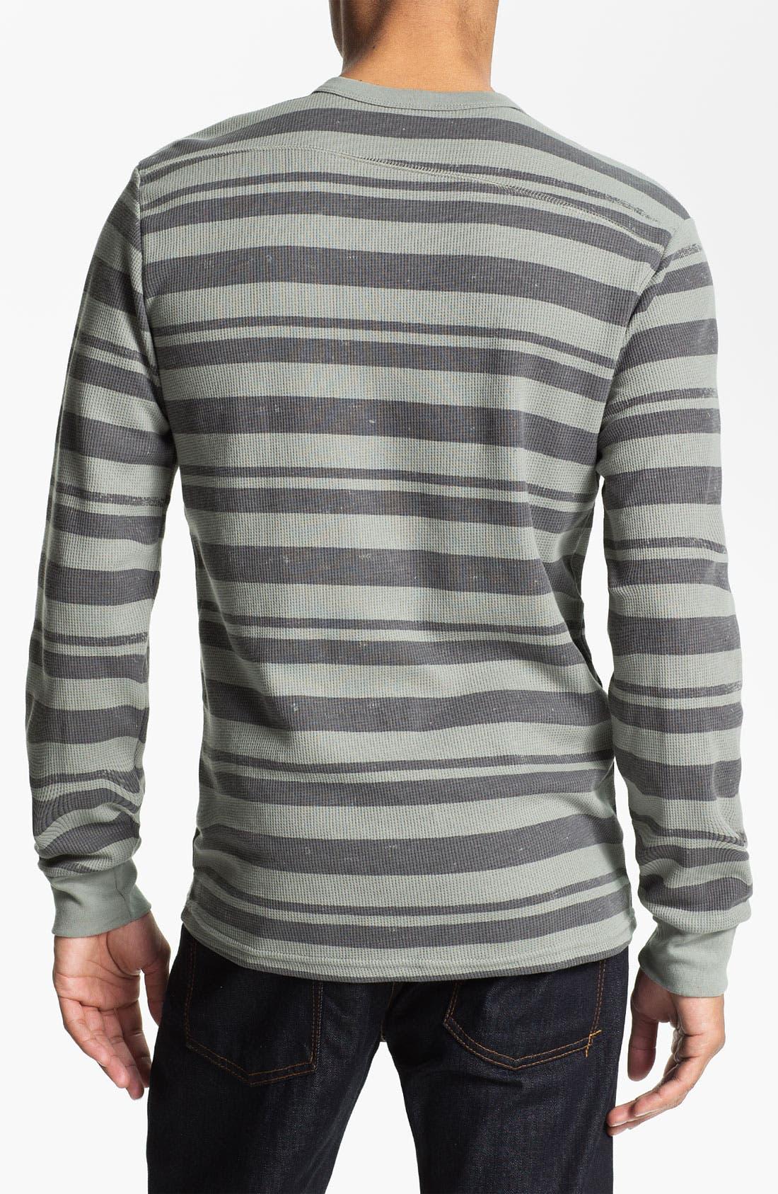 Alternate Image 2  - Volcom Stripe Crewneck Thermal Shirt