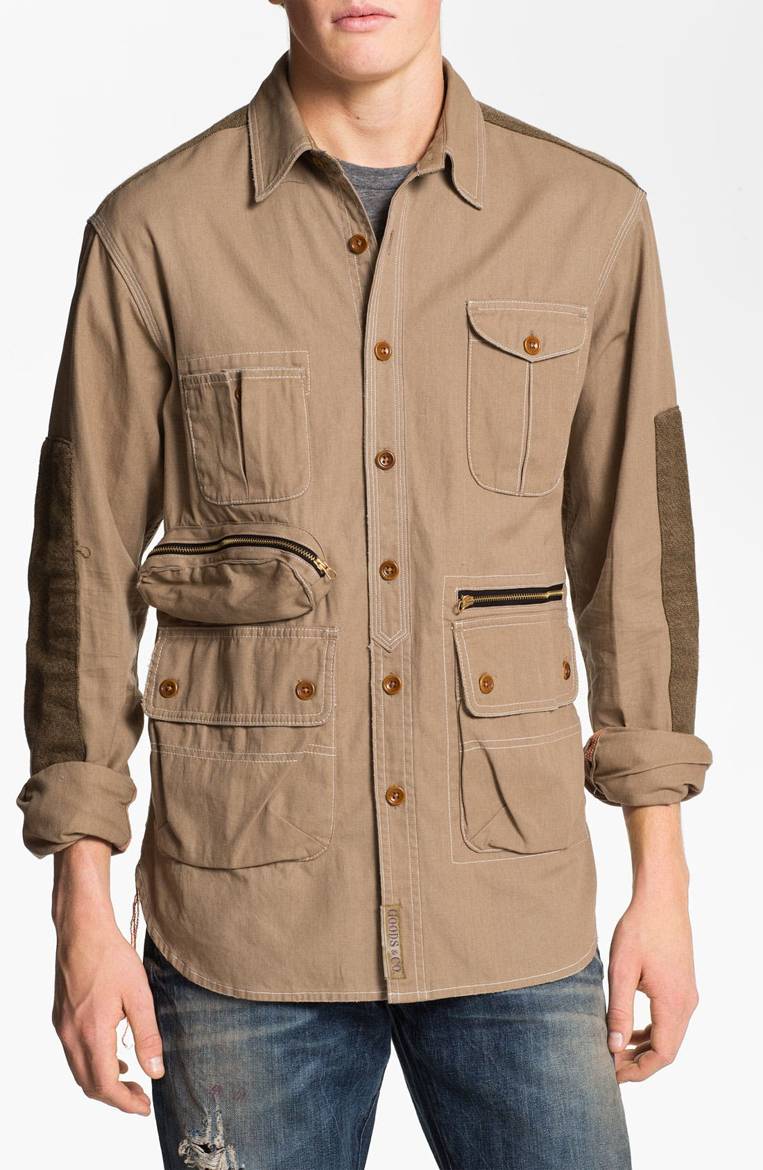 Alternate Image 1 Selected - PRPS 'Utility' Woven Twill Shirt