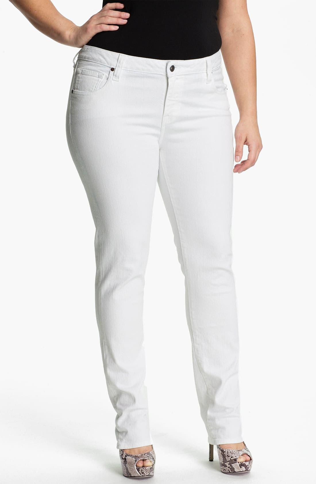 Alternate Image 1 Selected - Lucky Brand 'Ginger' Skinny Denim Jeans (Plus)