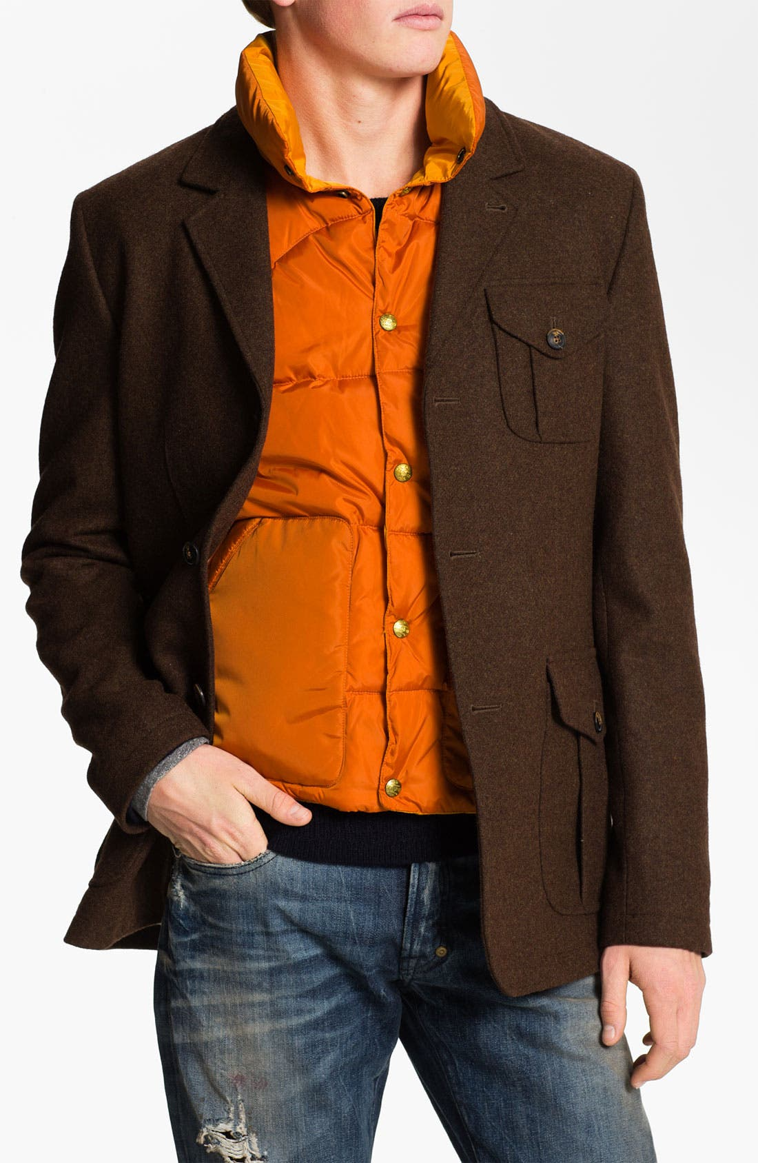 Alternate Image 1 Selected - Scotch & Soda Hunting Blazer with Removable Vest