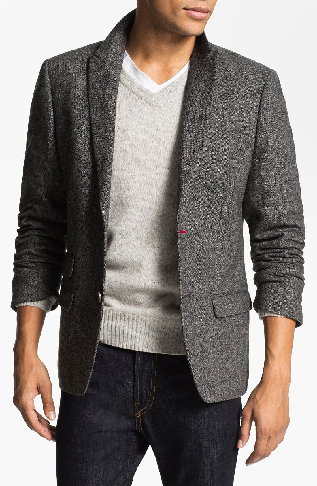 Main Image - Original Penguin Peak Lapel Tweed Blazer
