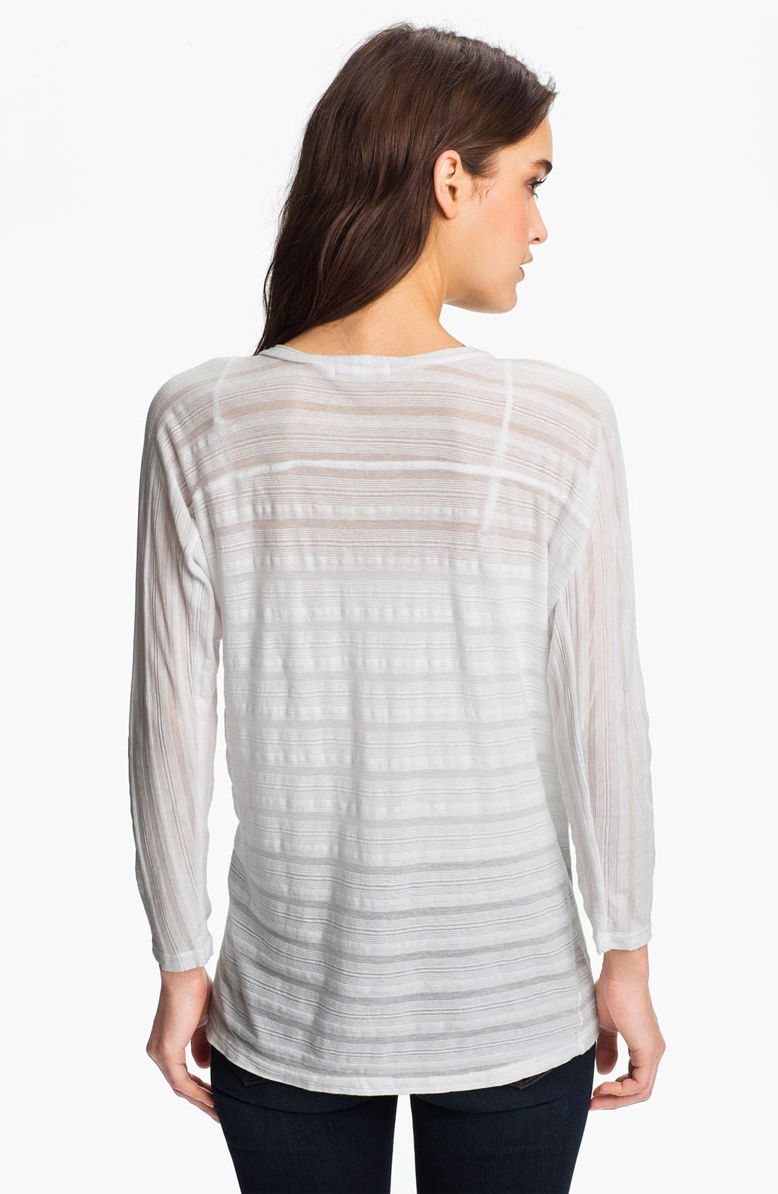 Alternate Image 2  - James Perse Sheer Stripe Dolman Top