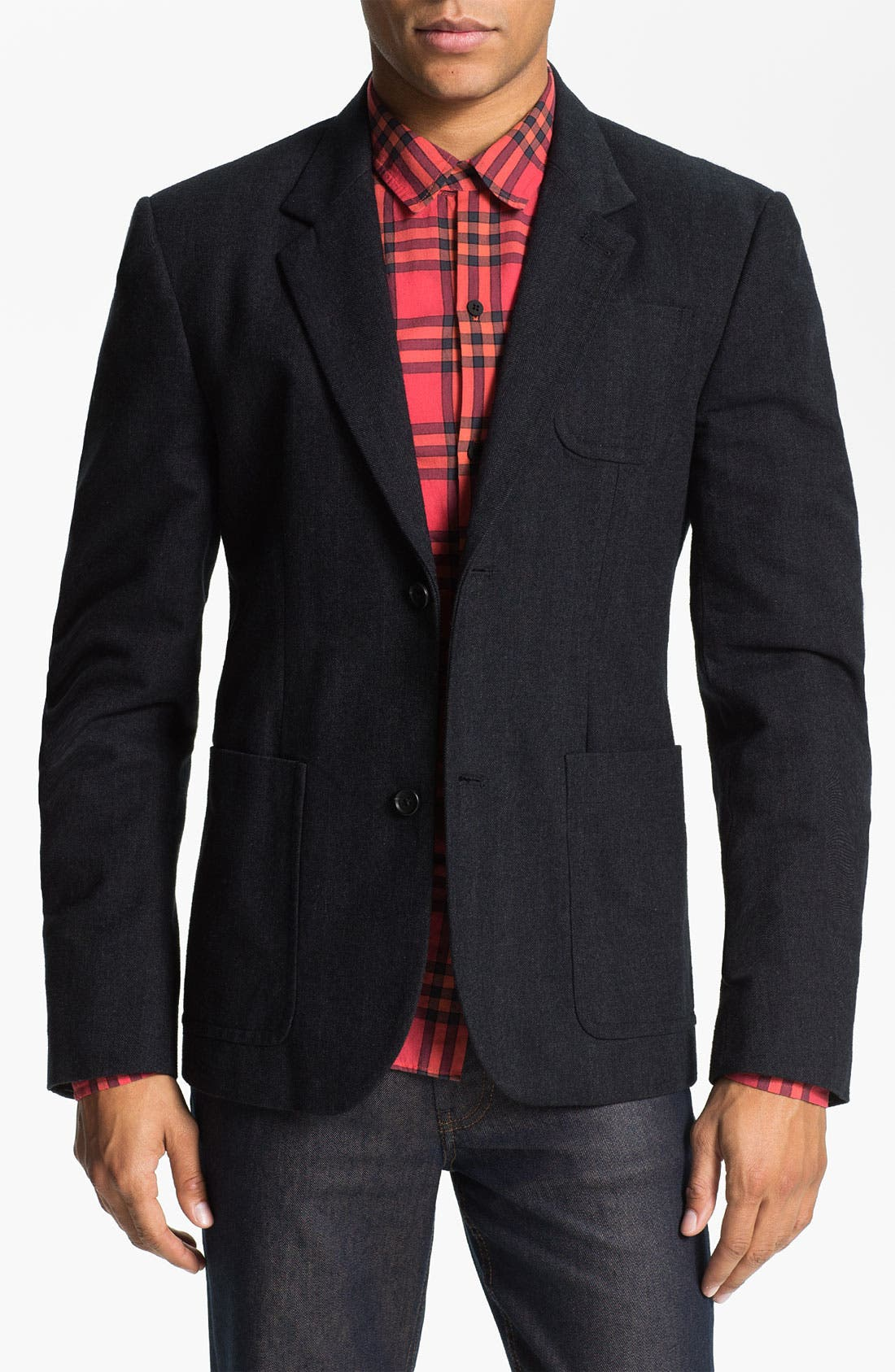Main Image - MARC BY MARC JACOBS 'Drake' Herringbone Cotton Blazer