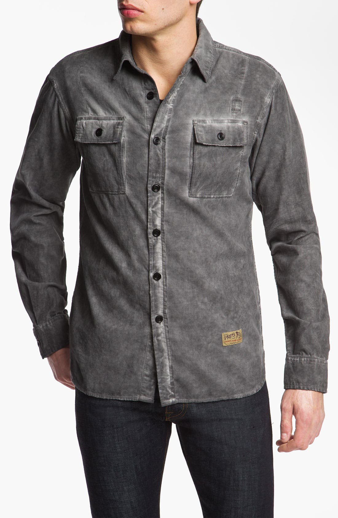 Alternate Image 1 Selected - PRPS Washed Corduroy Shirt