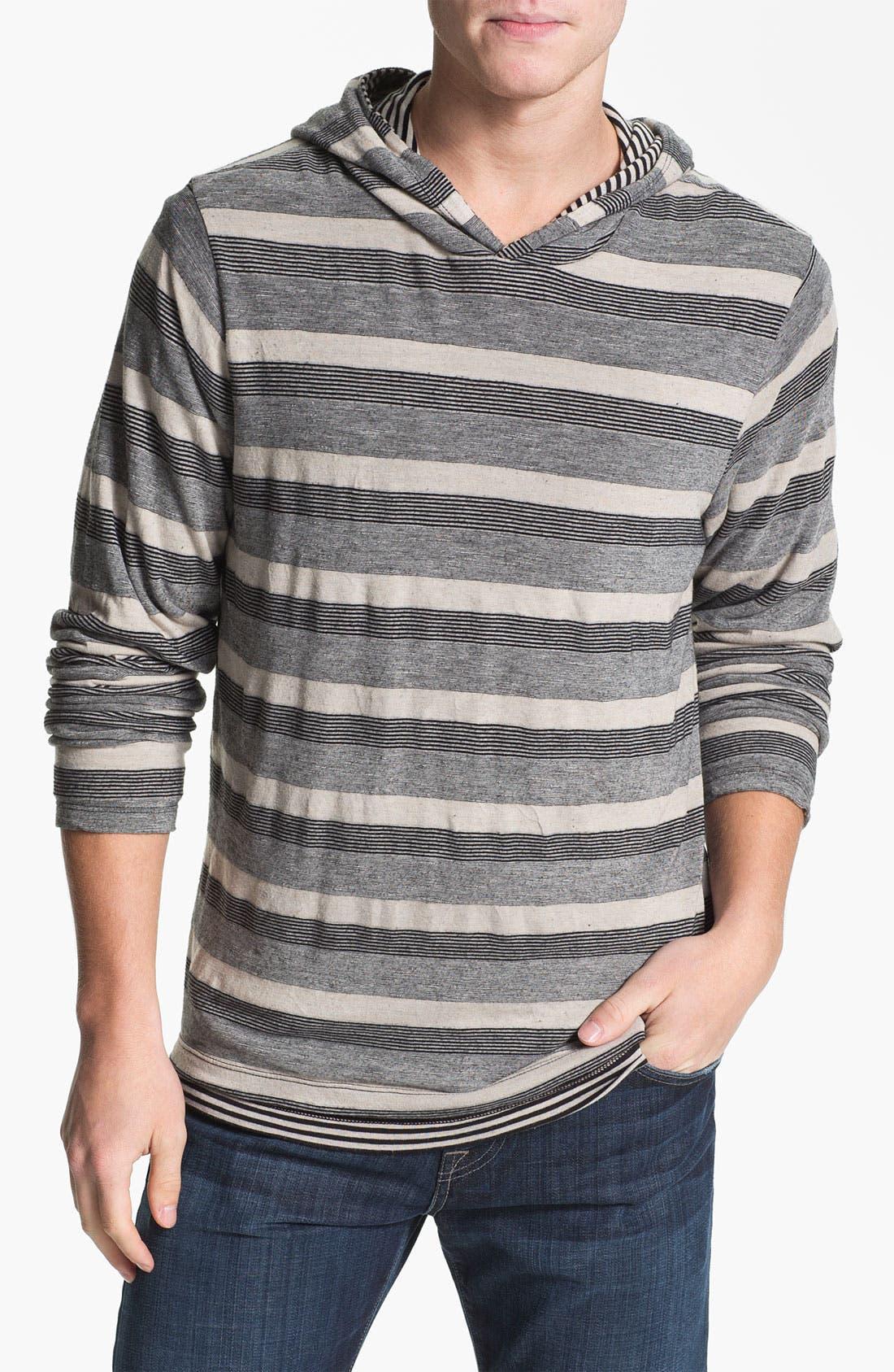 Alternate Image 3  - Splendid Mills 'Anderson' Reversible Stripe Hoodie