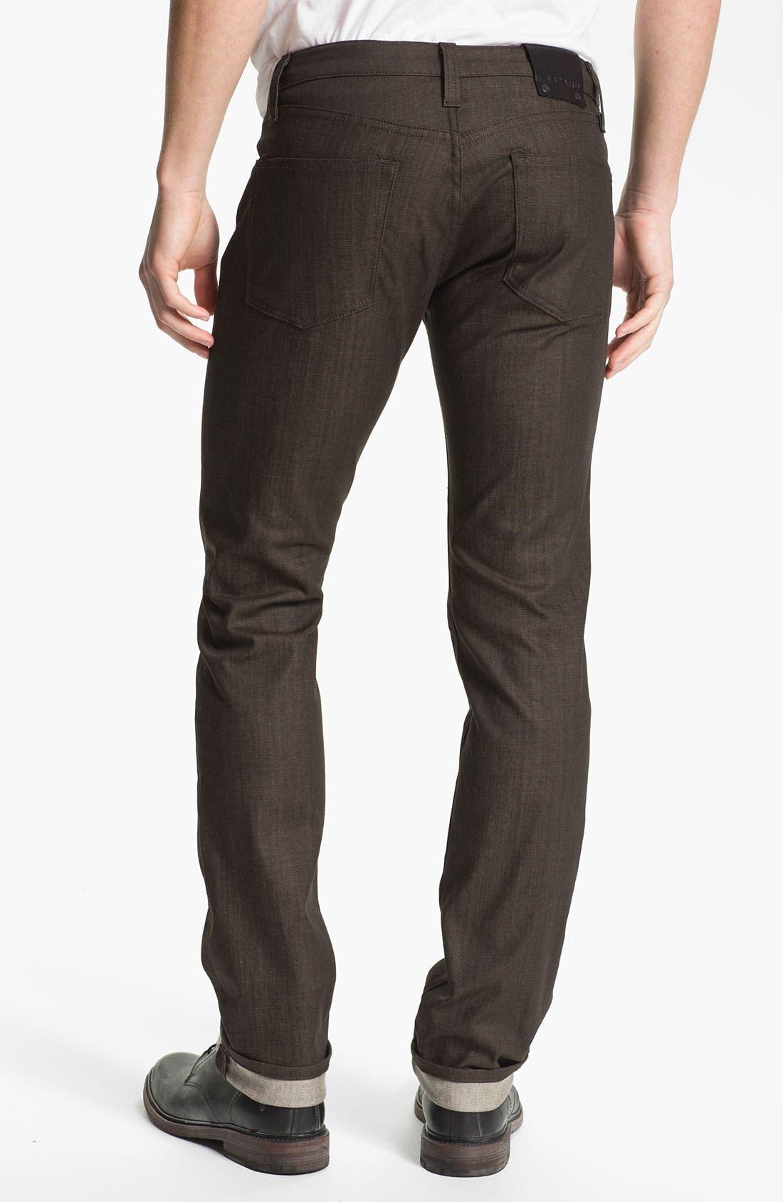Alternate Image 1 Selected - J Brand 'Kane' Slim Straight Leg Jeans (Flex Raw Scotch)