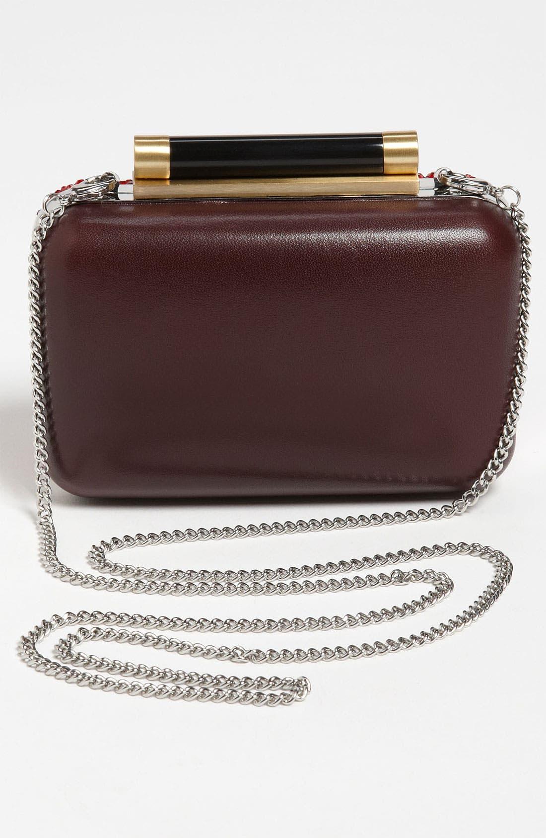 Alternate Image 4  - Diane von Furstenberg 'Tonda - Small' Crystal & Leather Clutch
