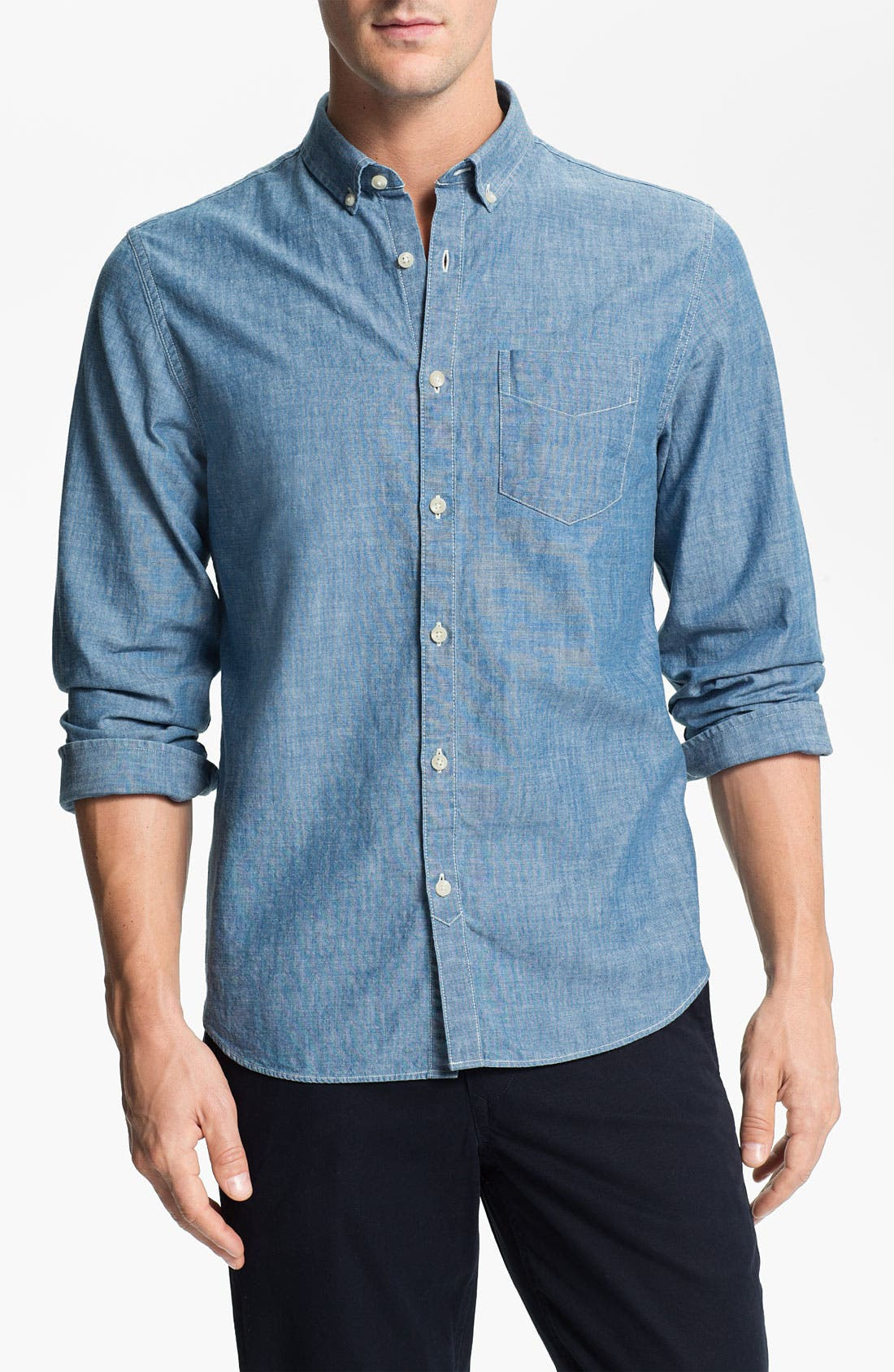 Alternate Image 1 Selected - Bonobos 'Fall River' Standard Fit Chambray Sport Shirt